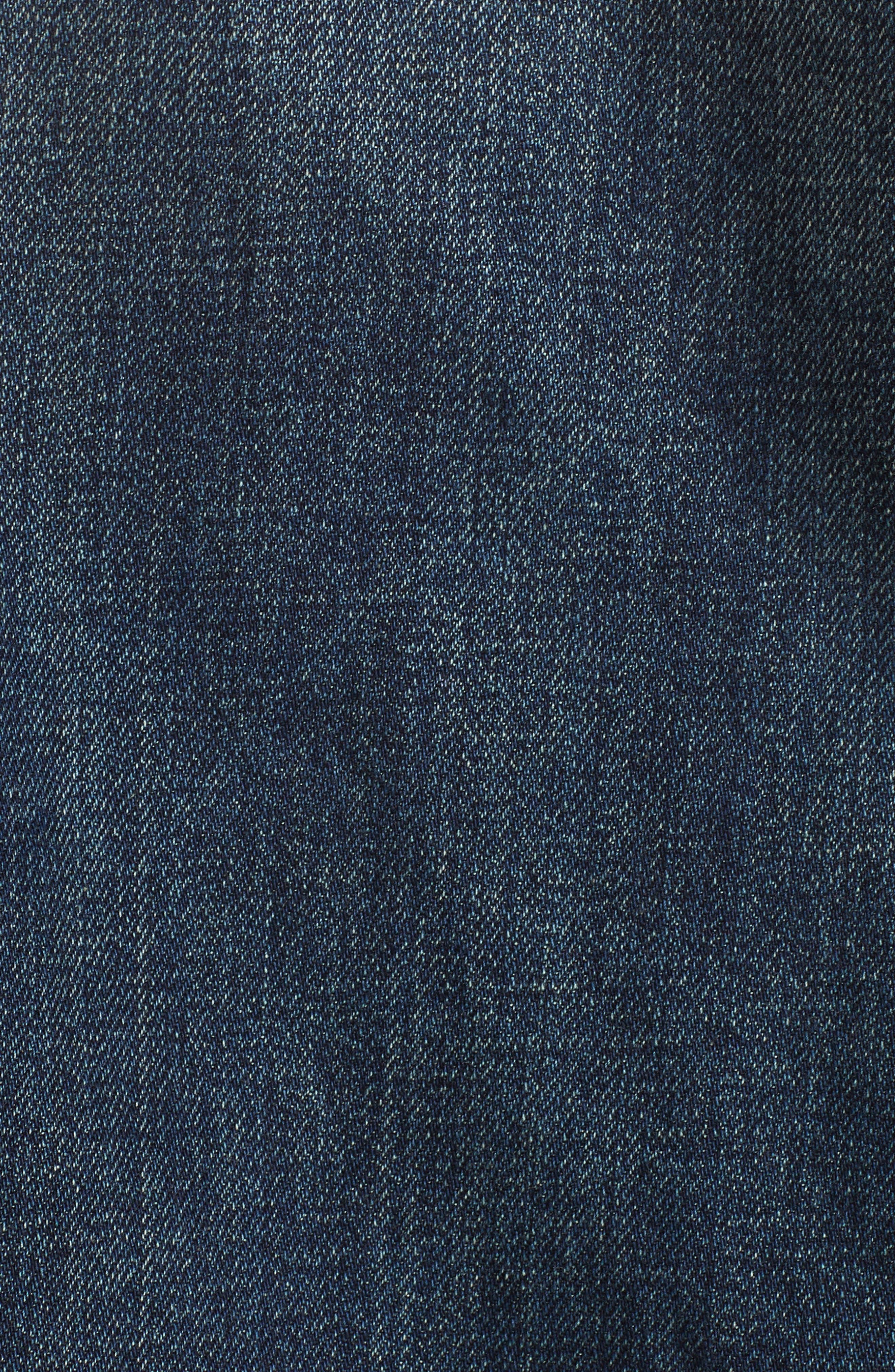 Denim Jacket,                             Alternate thumbnail 6, color,                             DARK INDIGO