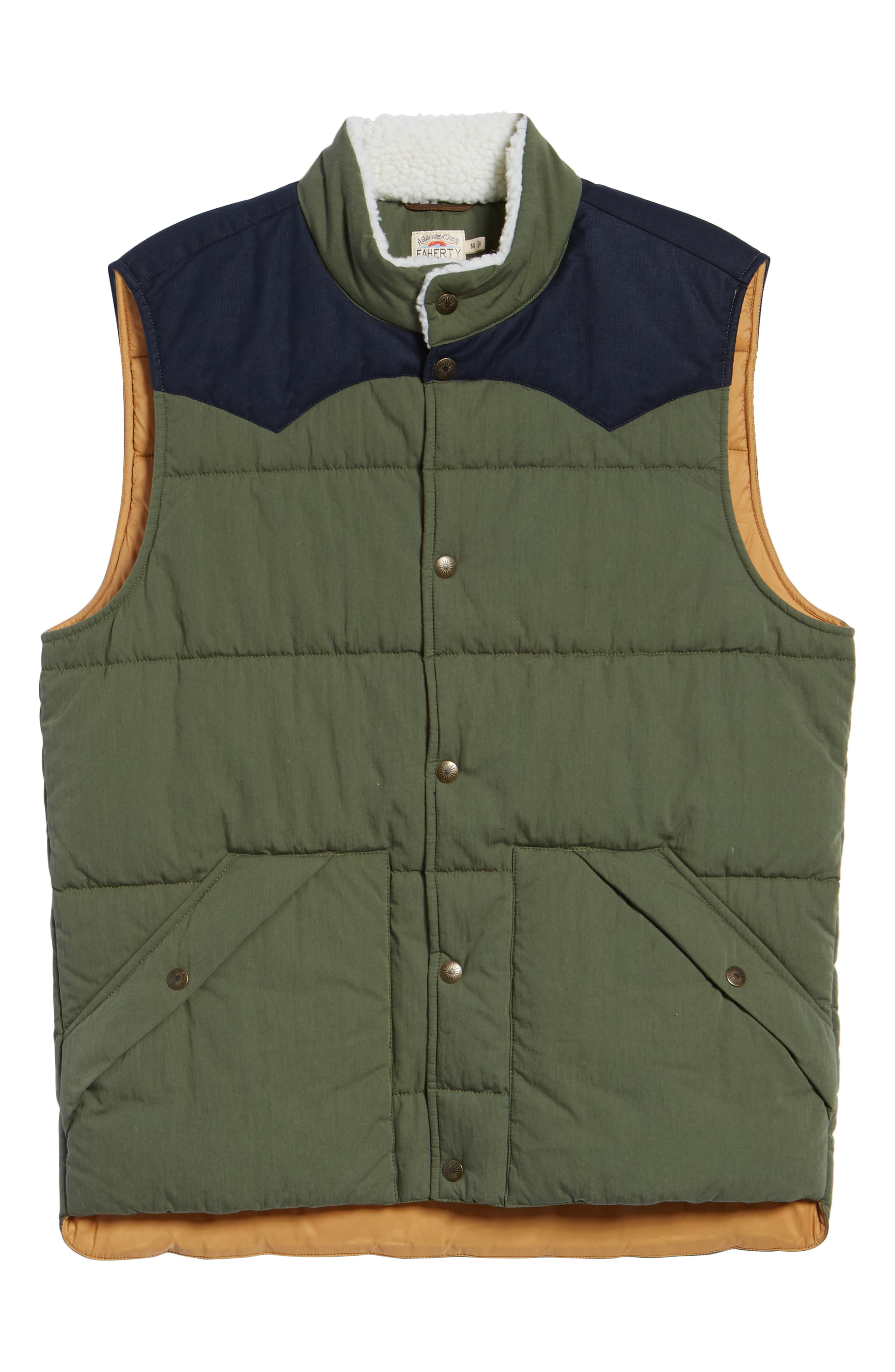 Quilted Western Vest,                             Alternate thumbnail 5, color,                             FOREST / NAVY