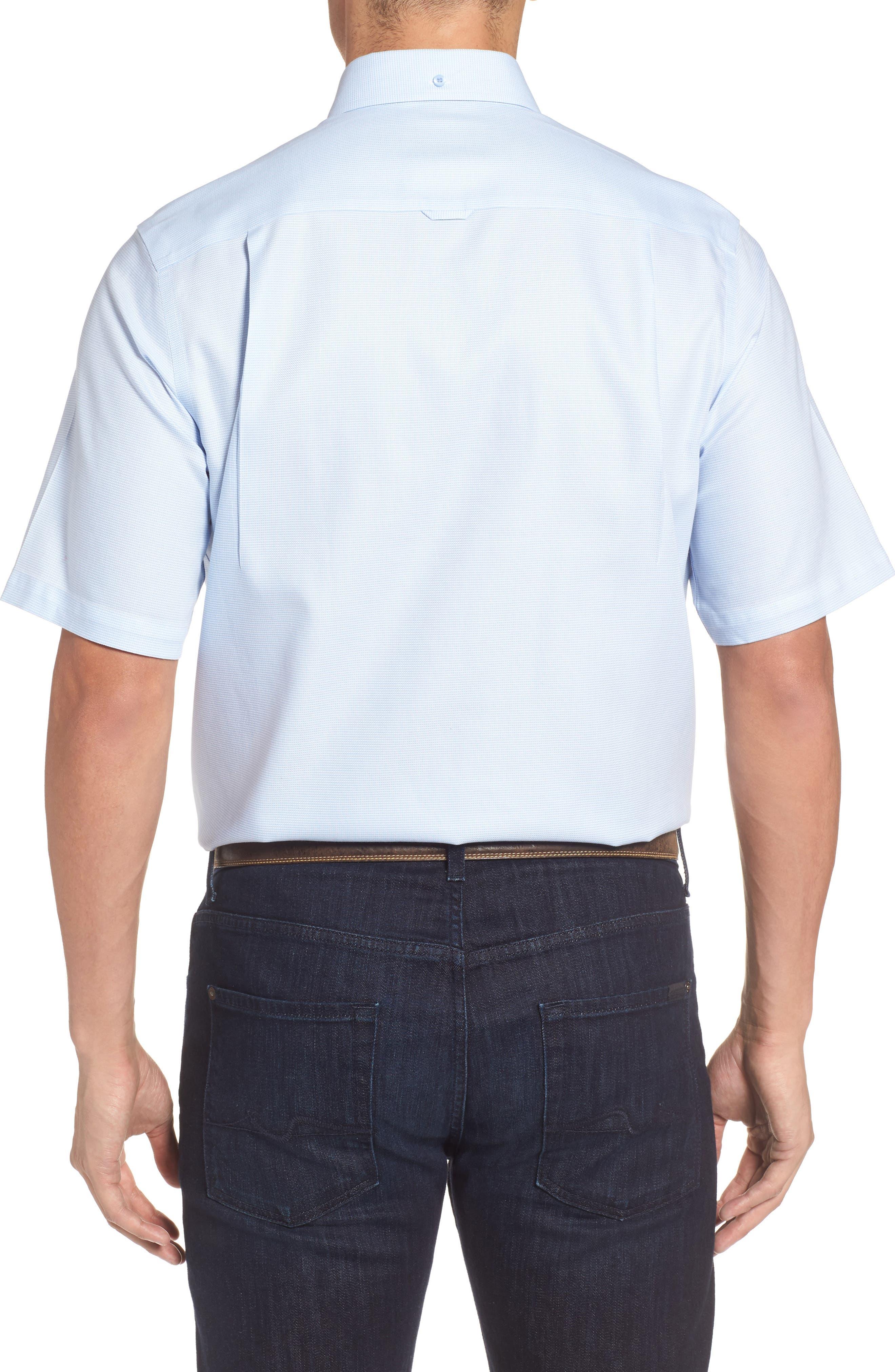 'Classic' Smartcare<sup>™</sup> Regular Fit Short Sleeve Cotton Sport Shirt,                             Alternate thumbnail 57, color,