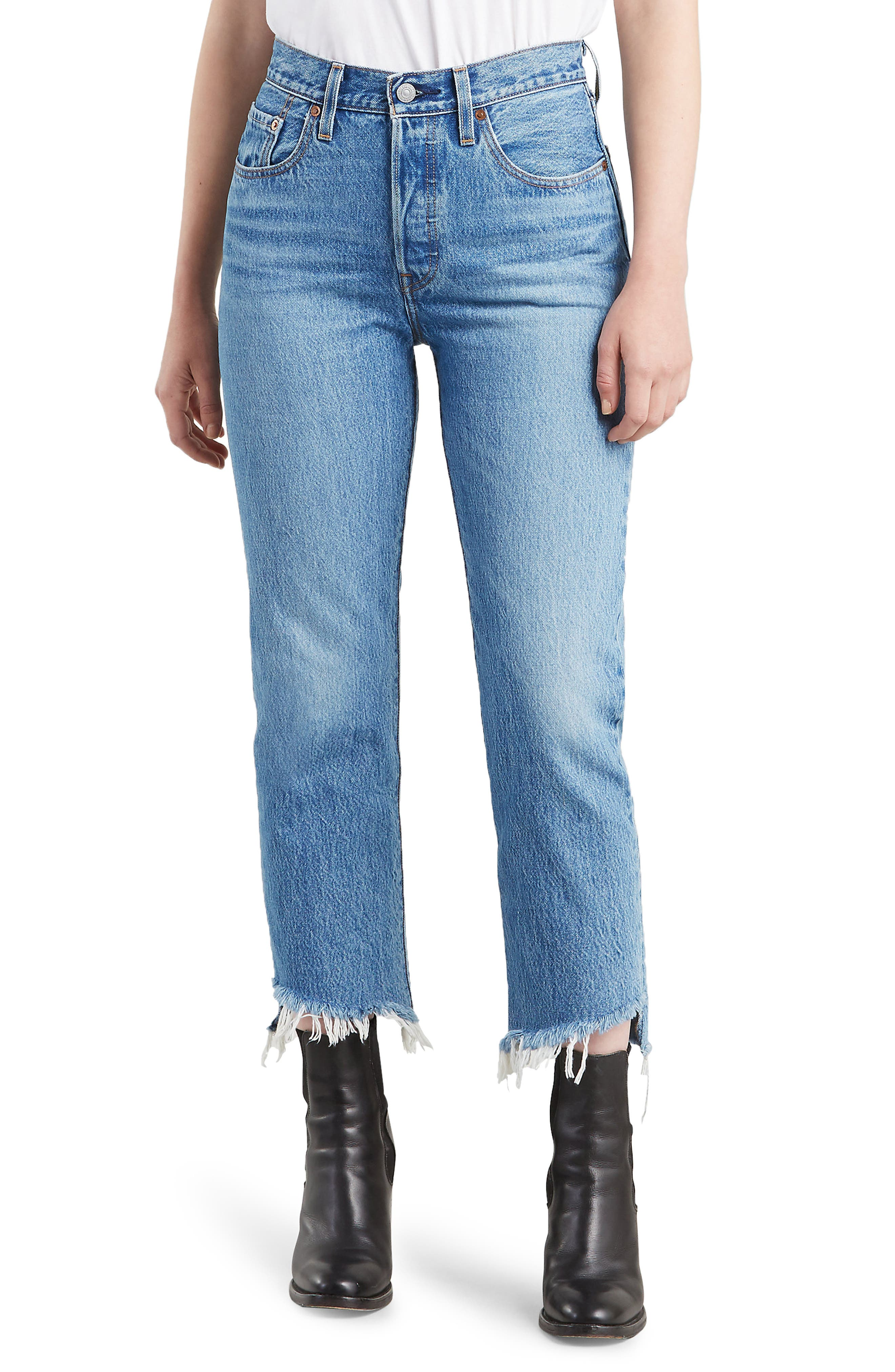 501 Crop Straight Jeans In Call Me Crazy