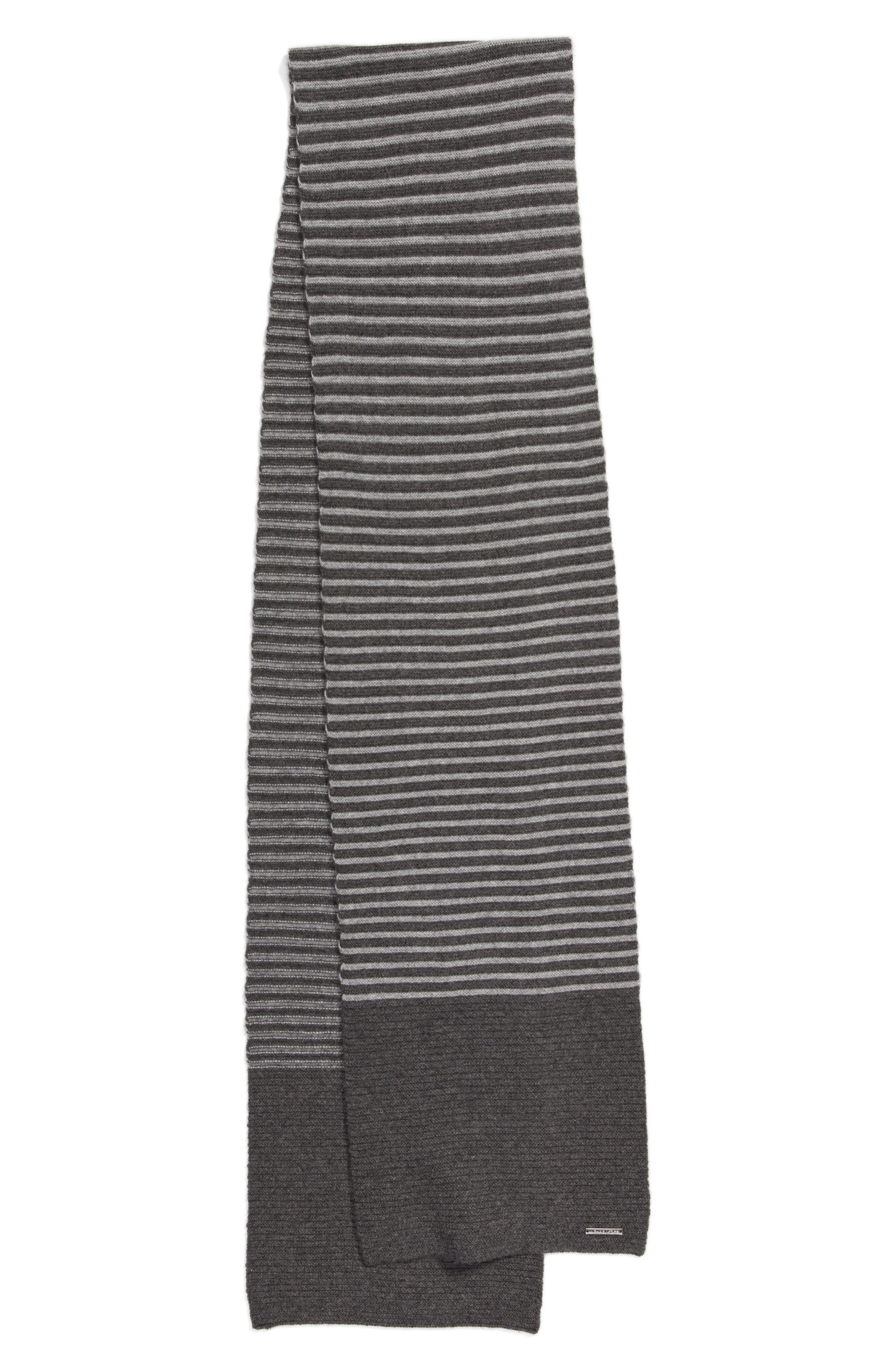 Double Links Wool & Cashmere Scarf,                             Alternate thumbnail 8, color,