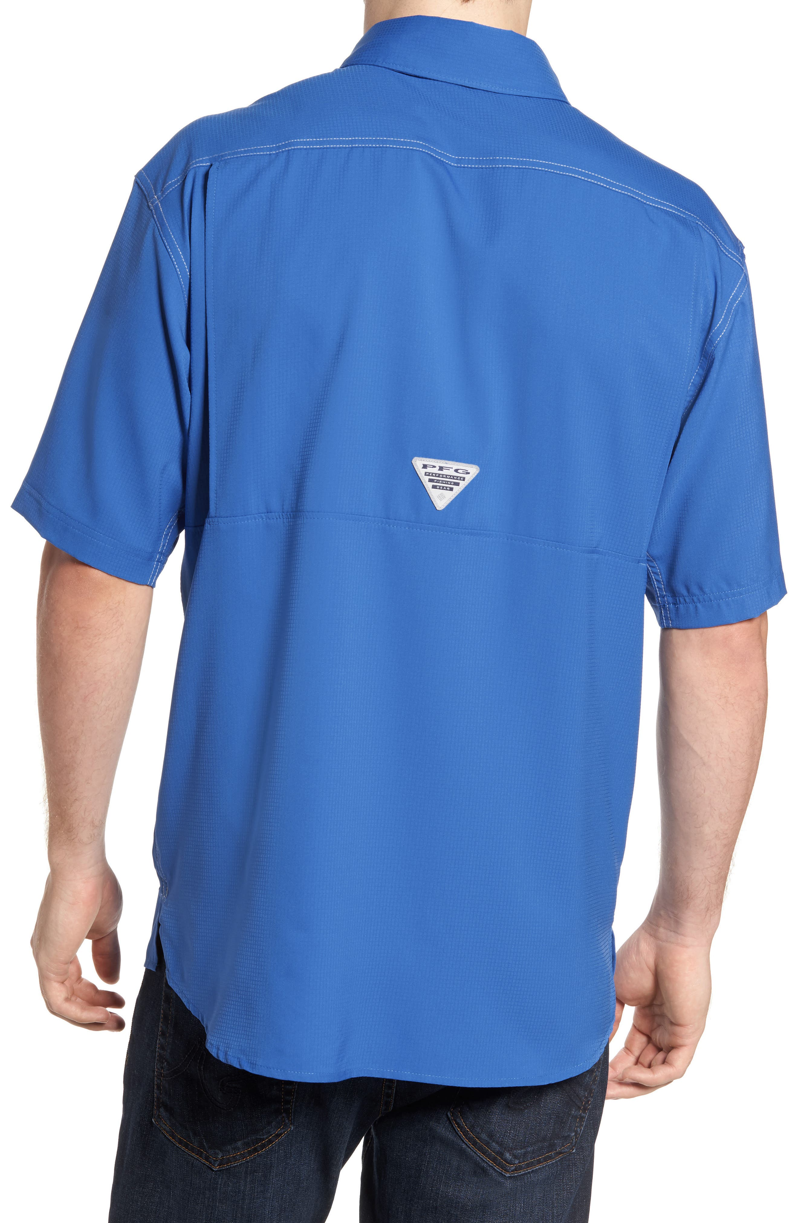 PFG Low Drag Offshore Woven Shirt,                             Alternate thumbnail 8, color,
