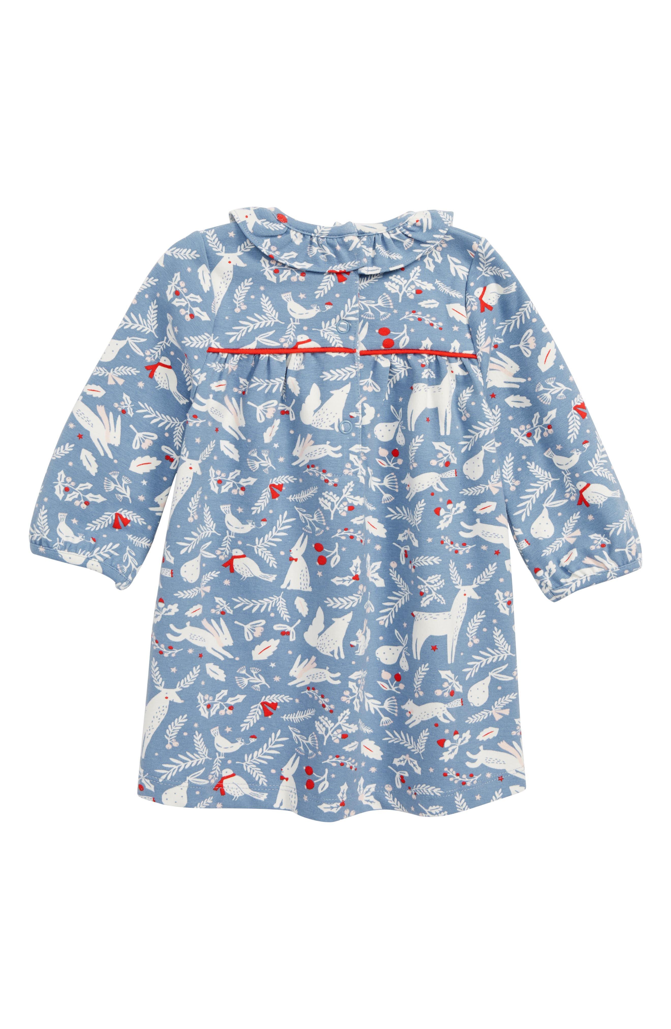 Christmas Jersey Dress,                             Alternate thumbnail 2, color,                             400