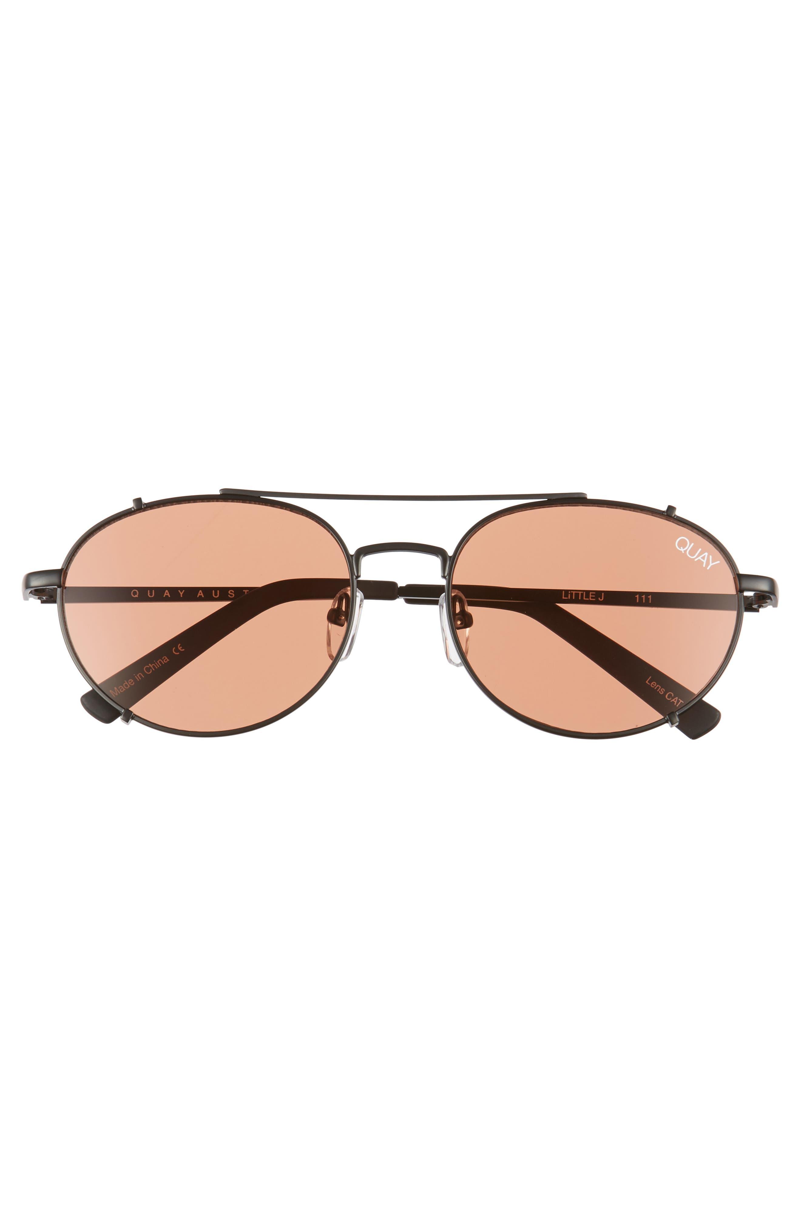 Little J 55mm Aviator Sunglasses,                             Alternate thumbnail 3, color,                             001