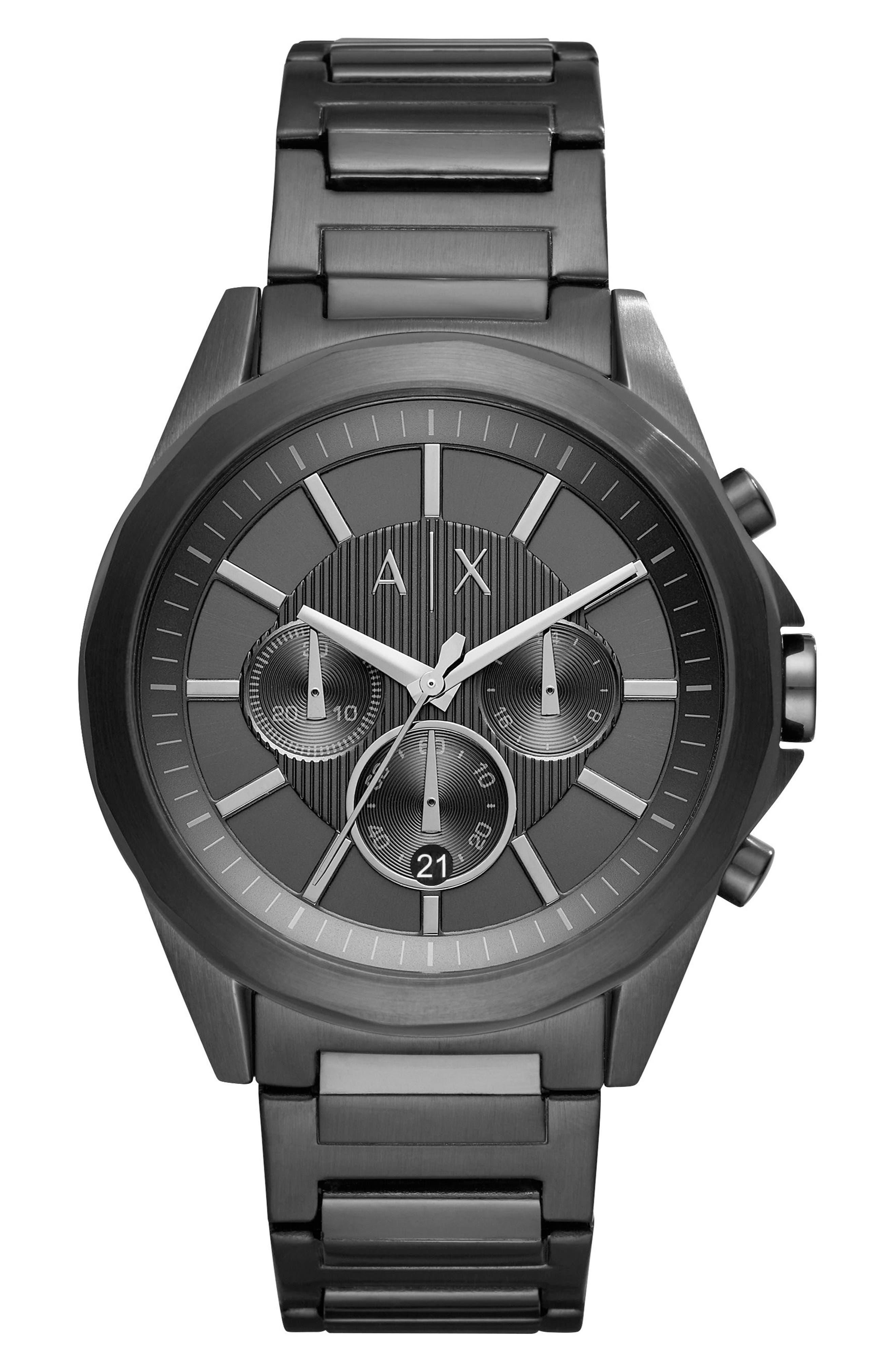 Chronograph Bracelet Watch, 44mm,                             Main thumbnail 1, color,                             001