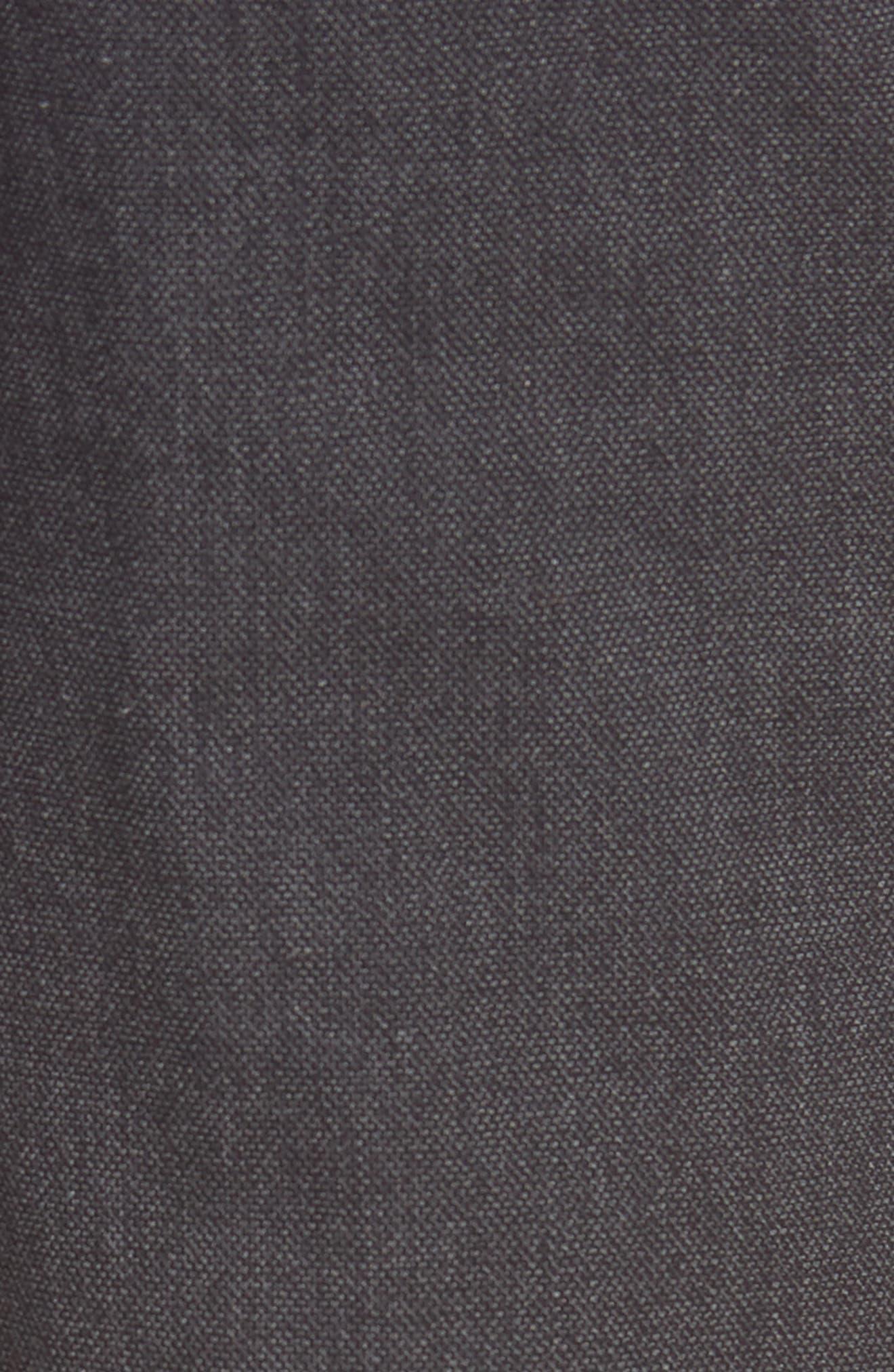 Batho Flat Front Solid Cotton Trousers,                             Alternate thumbnail 5, color,                             MEDIUM GREY