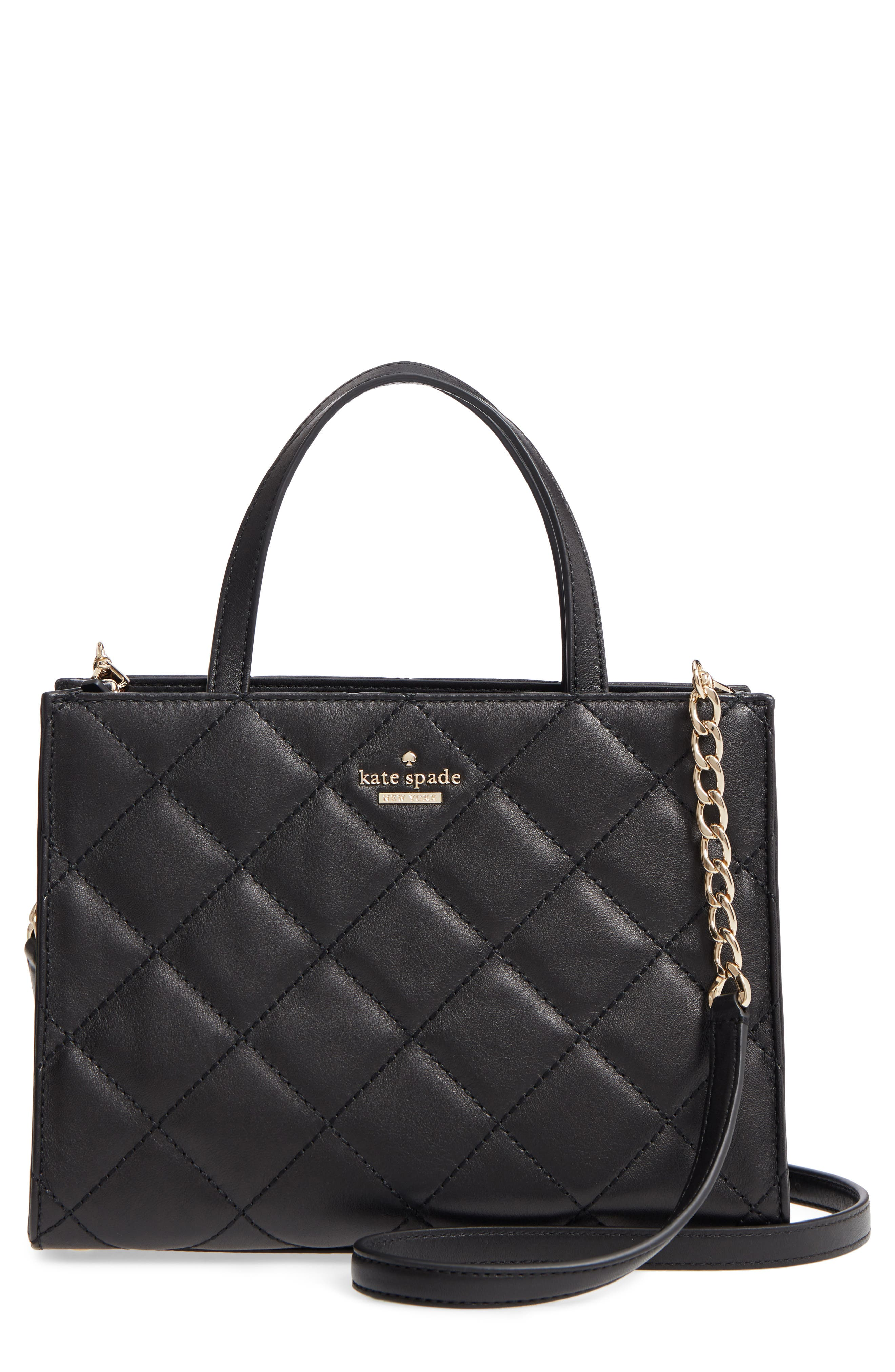 emerson place sam quilted leather handbag,                             Main thumbnail 1, color,                             001