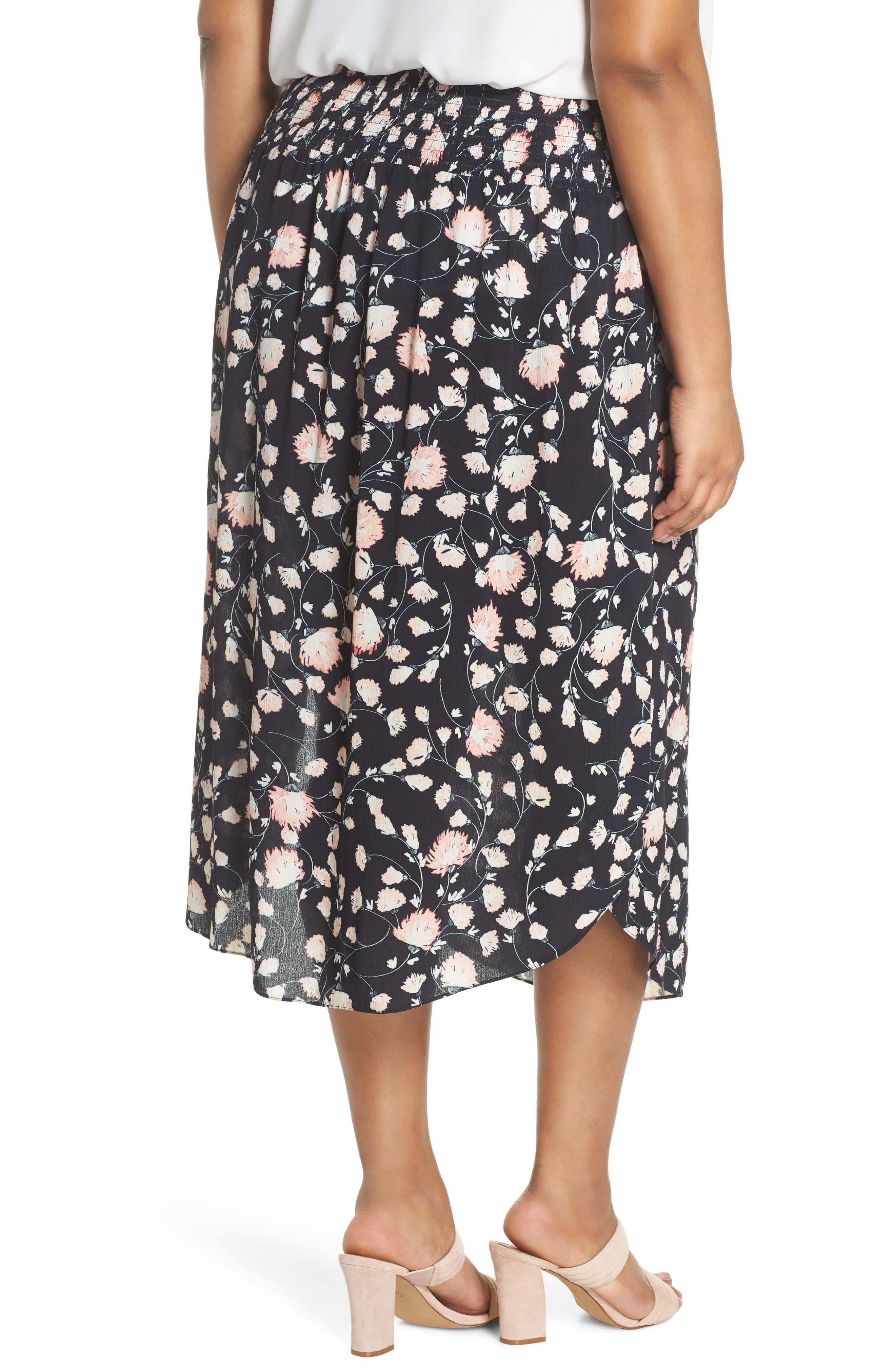 Smocked Waist Skirt,                             Alternate thumbnail 2, color,                             002