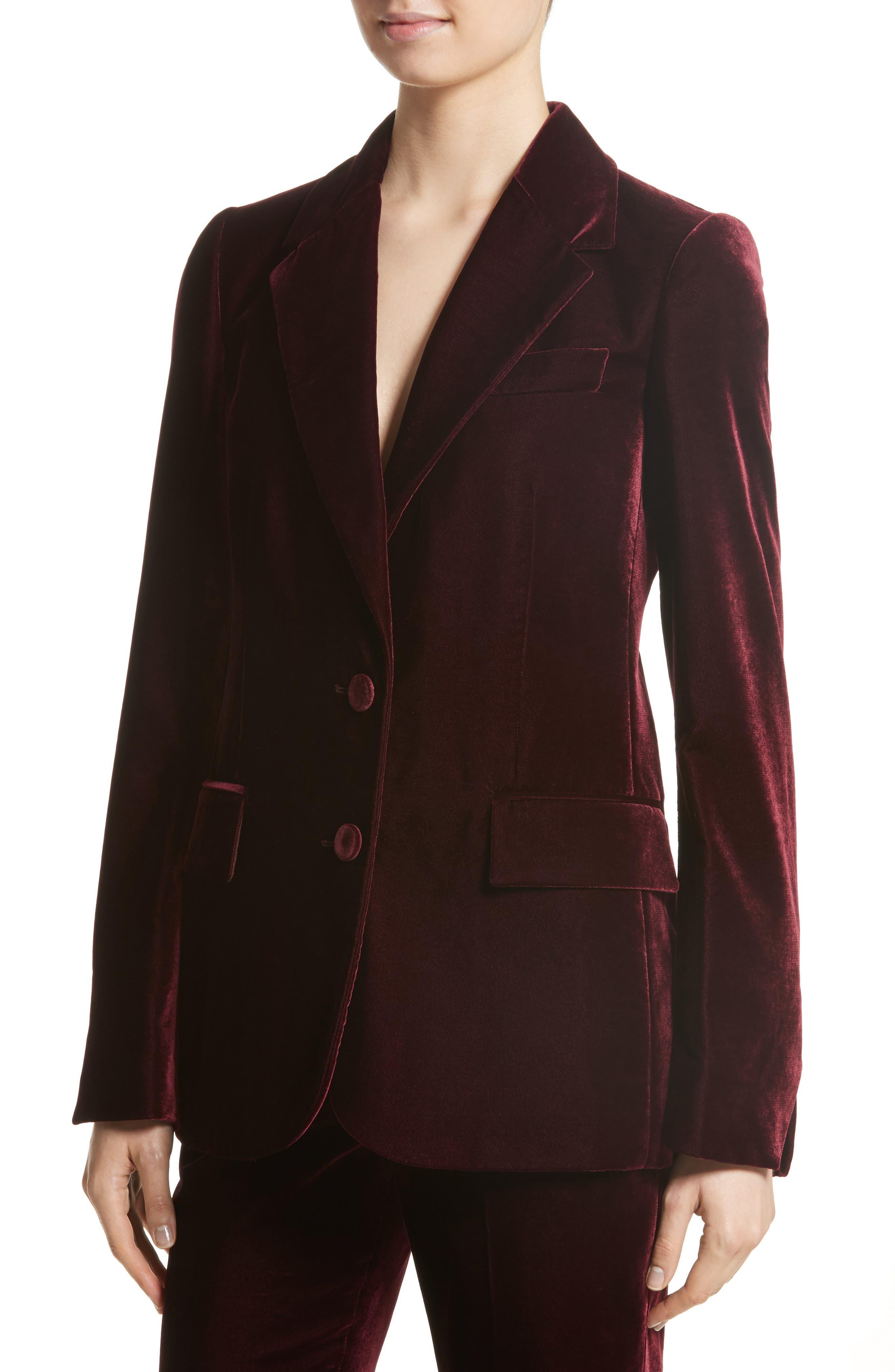 Bonded Velvet Jacket,                             Alternate thumbnail 4, color,                             930