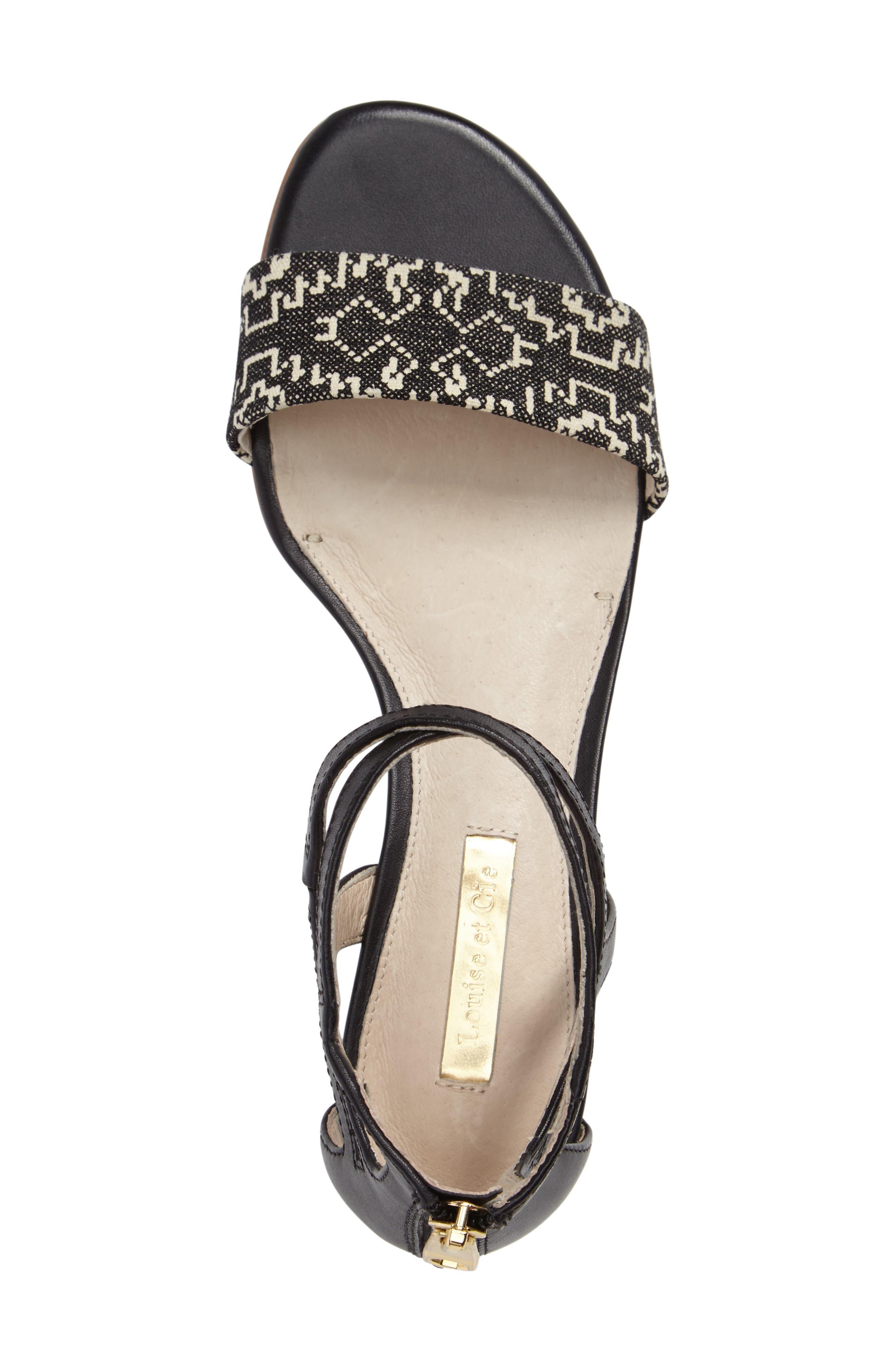 Adley Ankle Strap Sandal,                             Alternate thumbnail 3, color,                             002