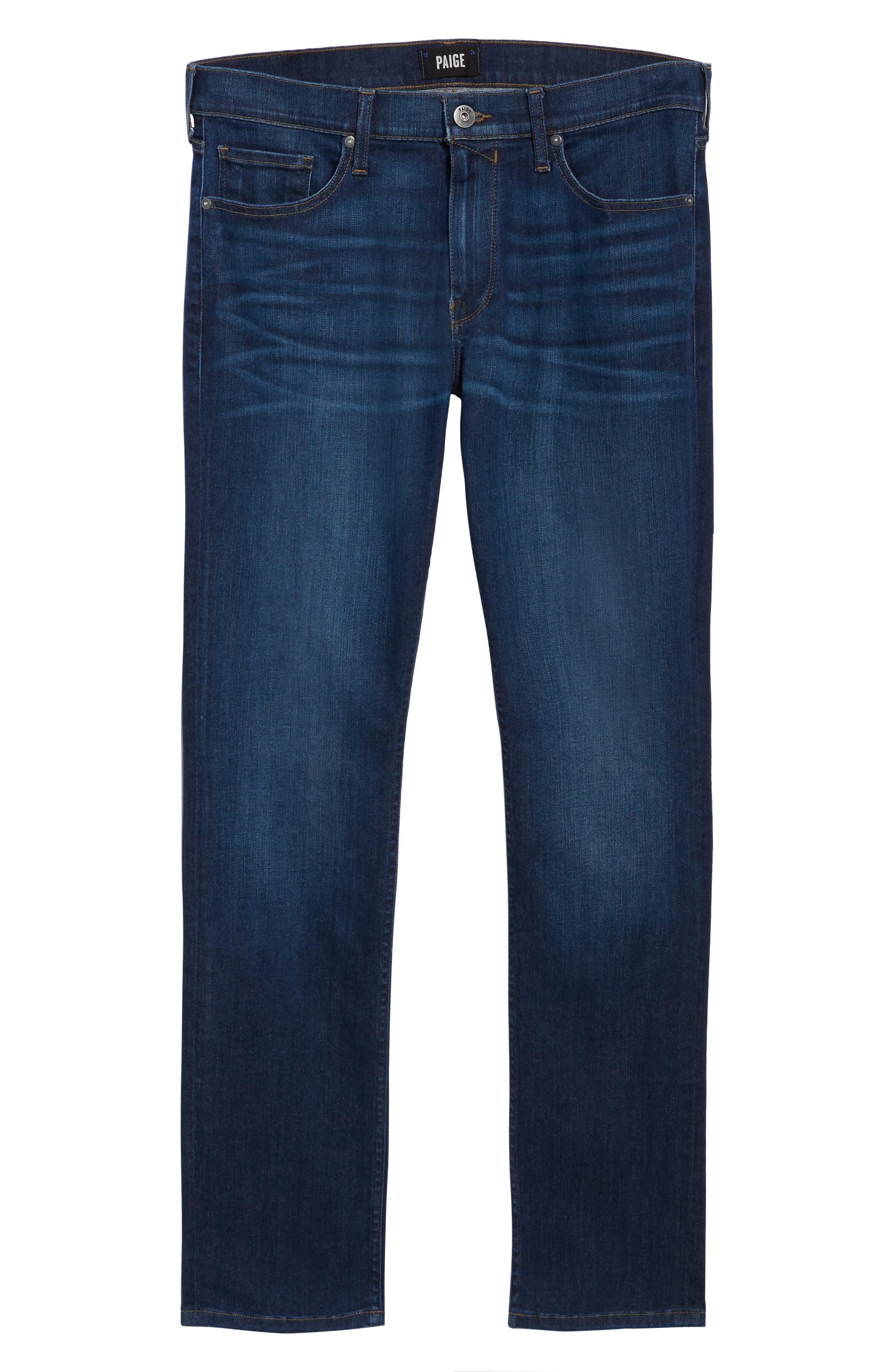 Transcend Vintage - Federal Slim Straight Leg Jeans,                             Alternate thumbnail 6, color,                             ELWYN