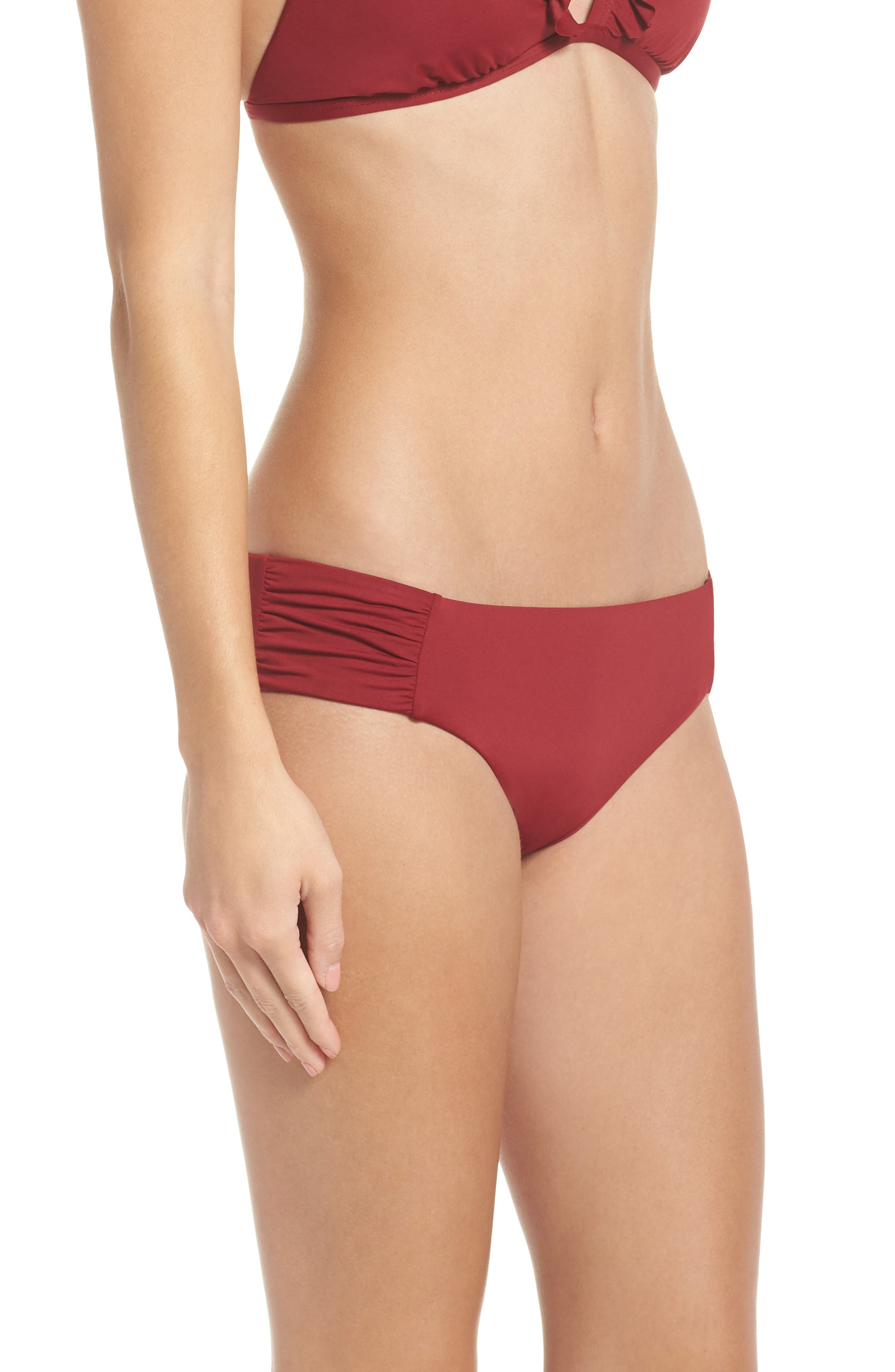 Sienna Reversible Hipster Bikini Bottoms,                             Alternate thumbnail 4, color,                             RED RUMBA