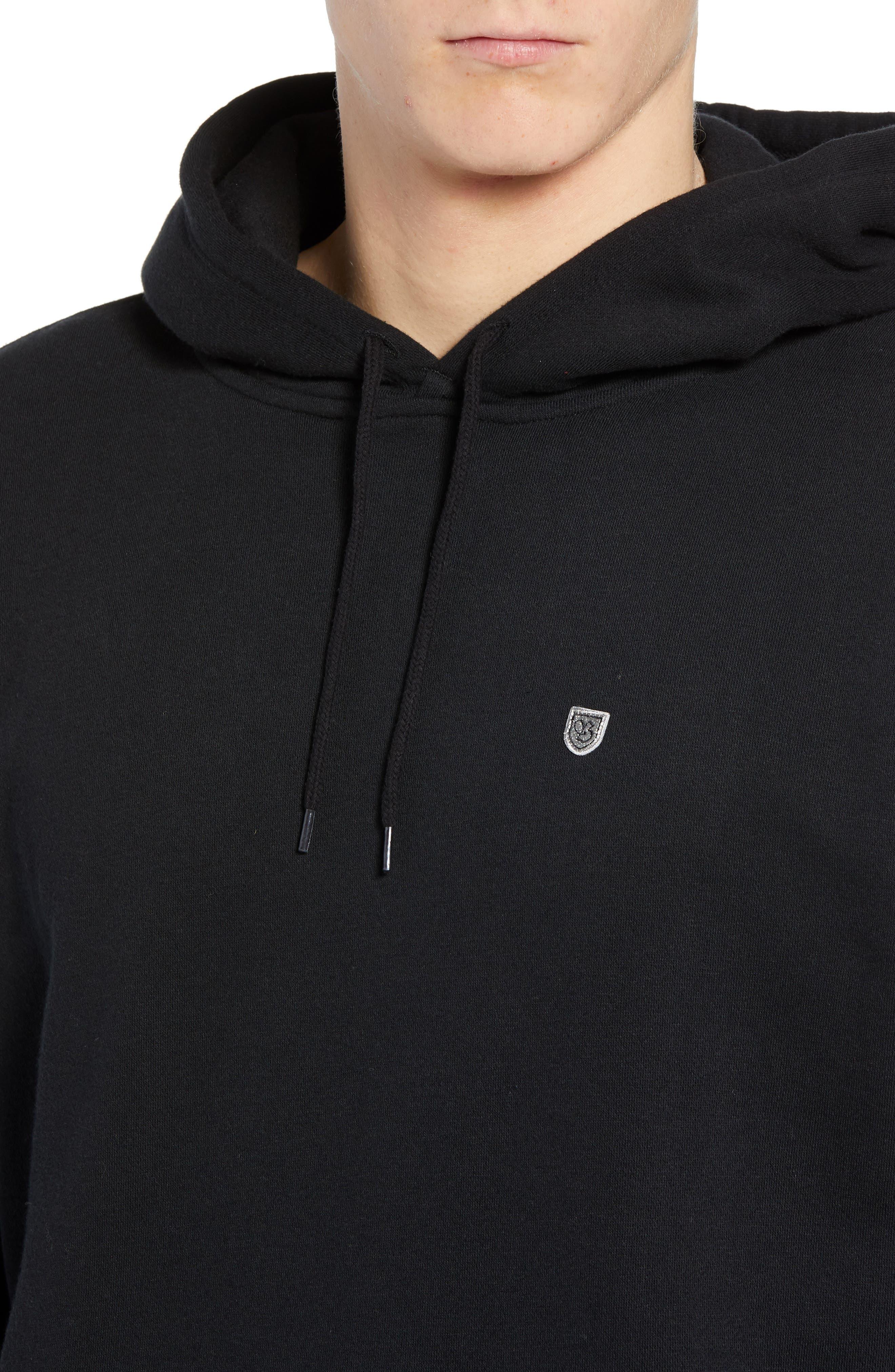 B-Shield Hooded Sweatshirt,                             Alternate thumbnail 4, color,                             001