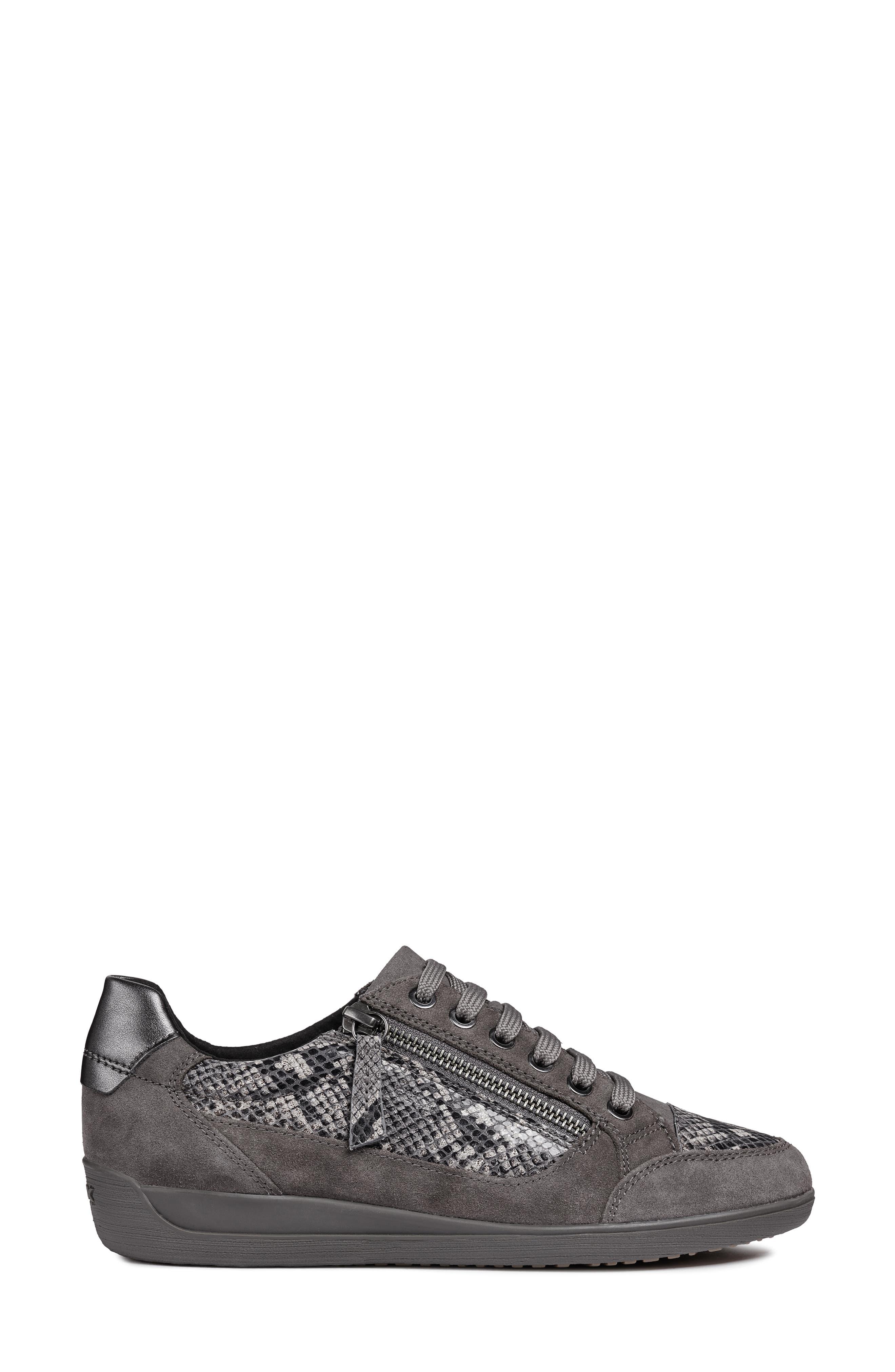 Myria Sneaker,                             Alternate thumbnail 3, color,                             DARK GREY SUEDE
