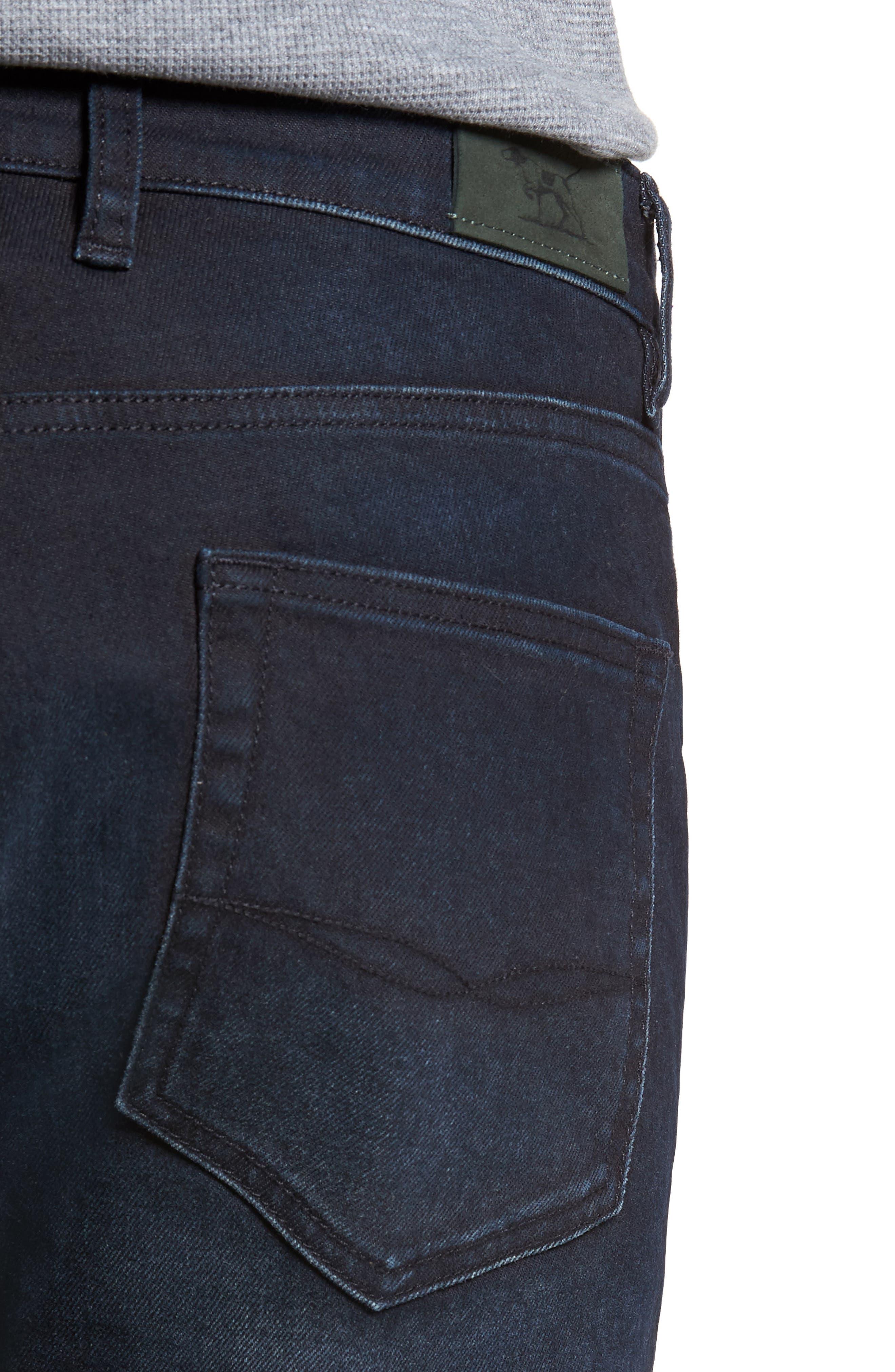 Mapleton Slim Fit Jeans,                             Alternate thumbnail 4, color,                             DENIM