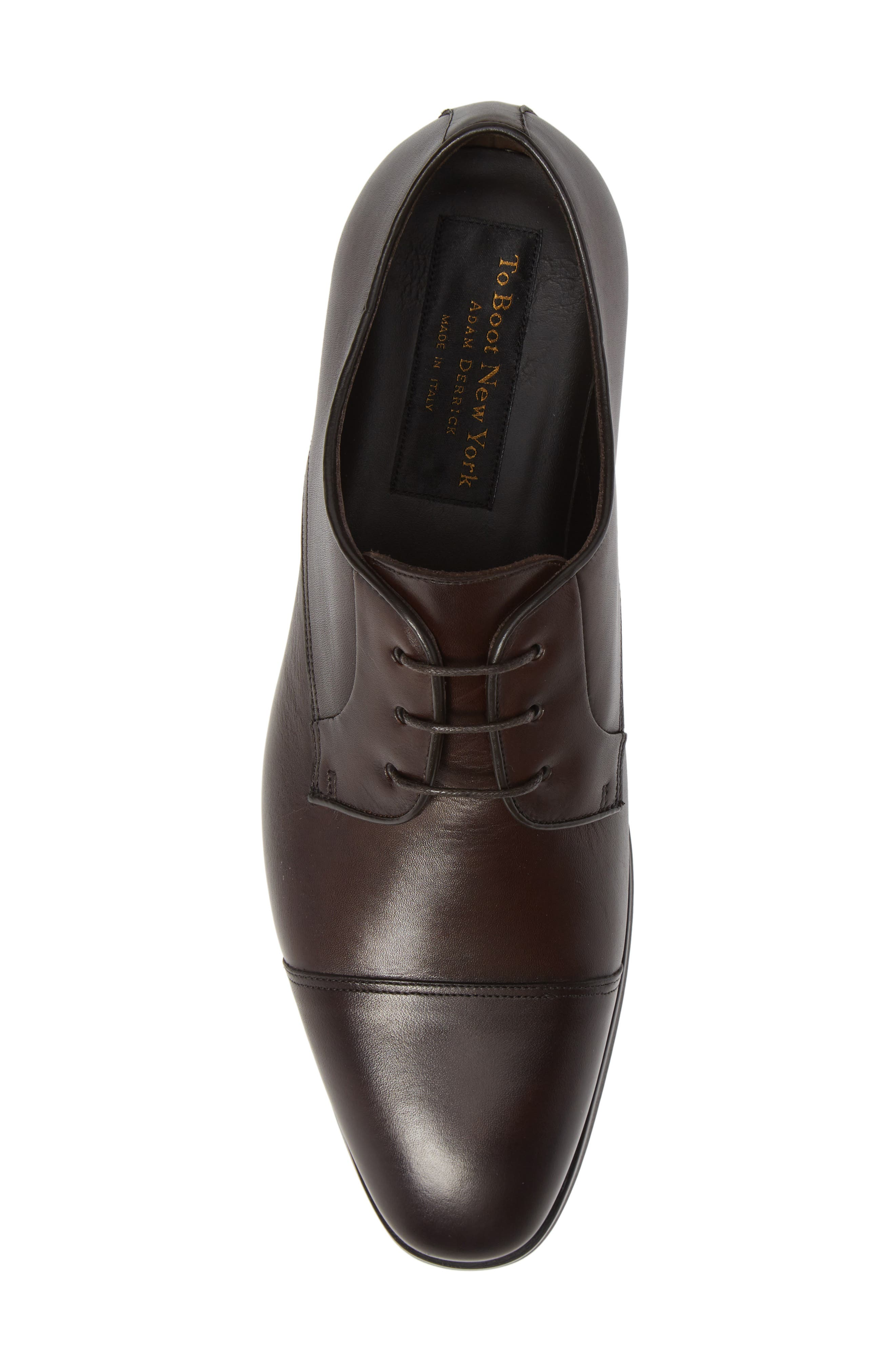 Aberdeen Cap Toe Derby,                             Alternate thumbnail 5, color,                             BERRY/ TMORO LEATHER