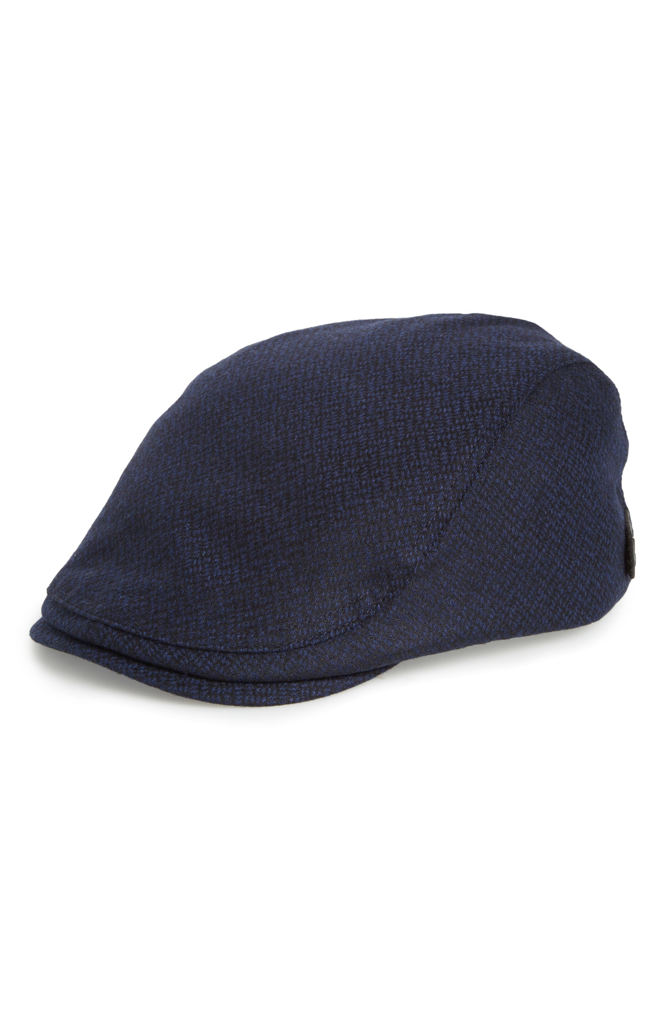 Ted Baker Thompson Wool Blend Flat Driving Cap,                             Main thumbnail 2, color,