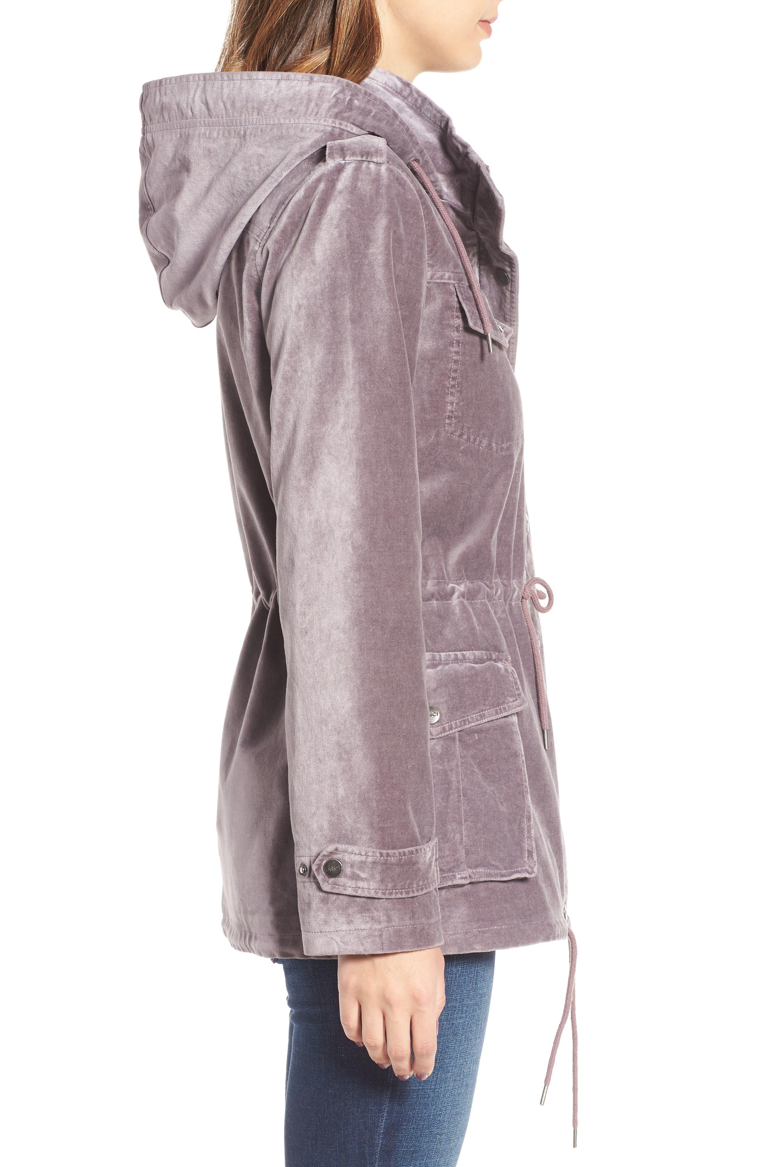 BNCI Cotton Velveteen Hooded Anorak Jacket,                             Alternate thumbnail 6, color,