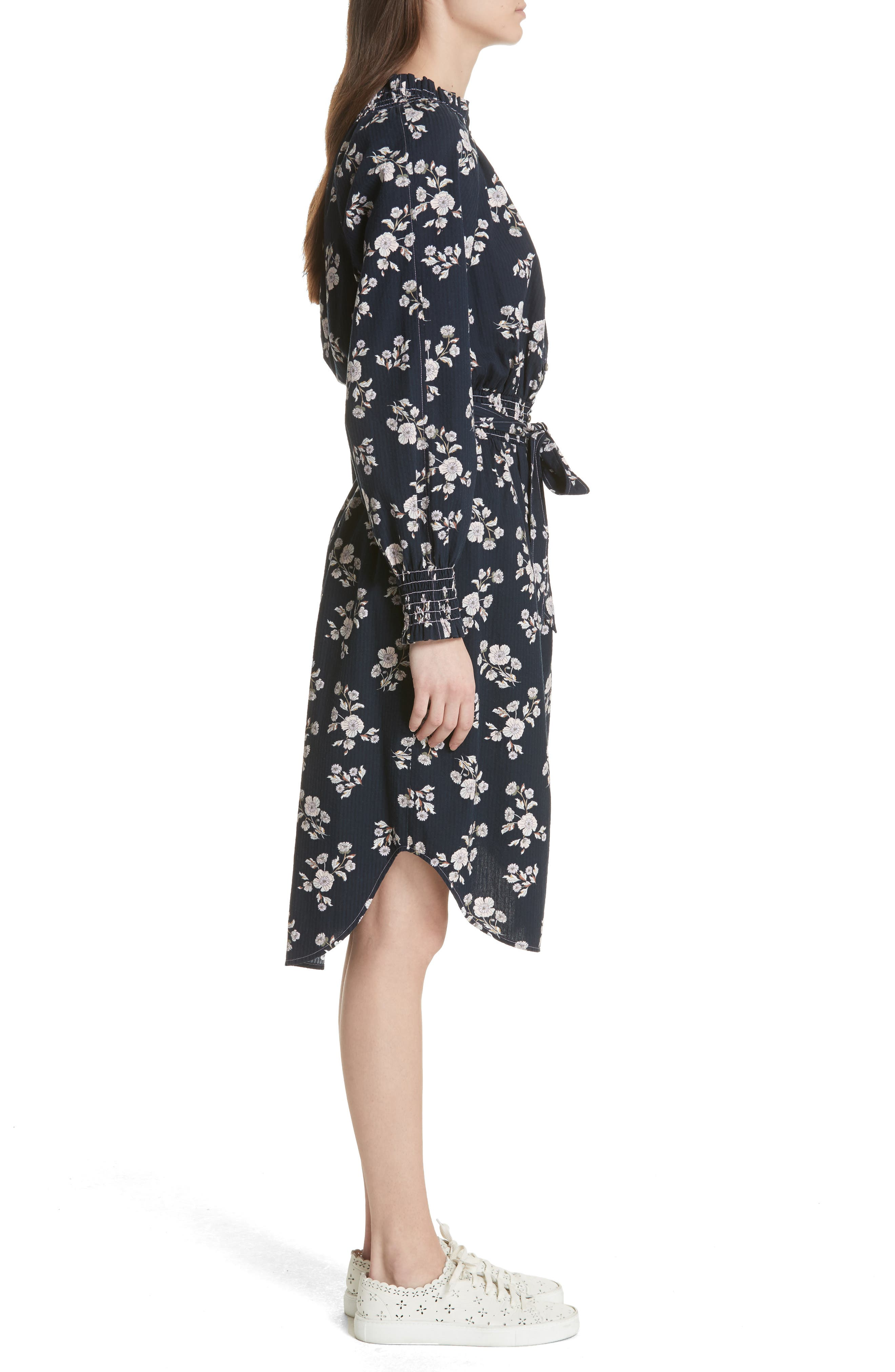 Camille Floral Shirtdress,                             Alternate thumbnail 3, color,                             410