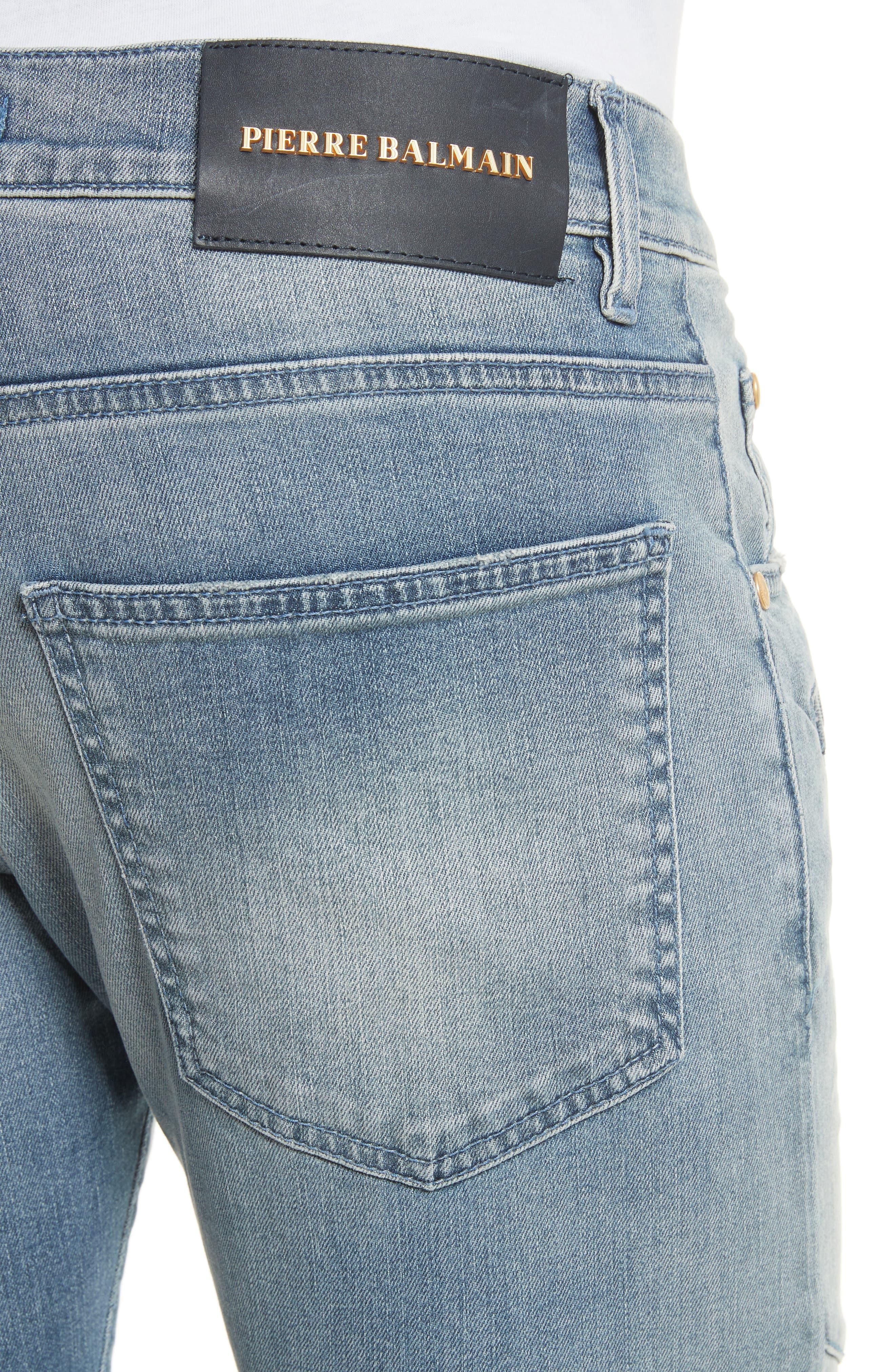 Slit Knee Jeans,                             Alternate thumbnail 4, color,