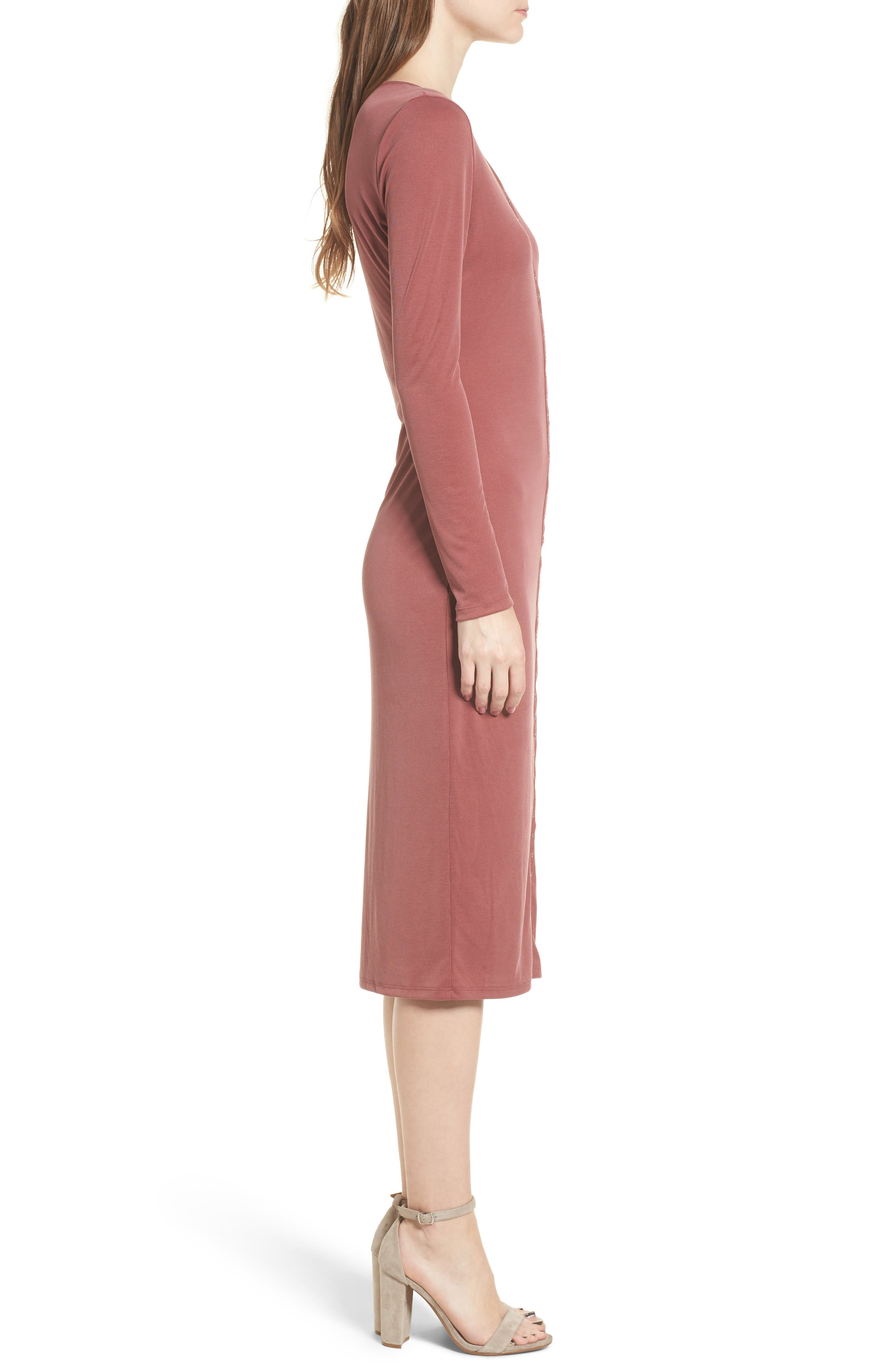 Snap Front Henley Dress,                             Alternate thumbnail 9, color,