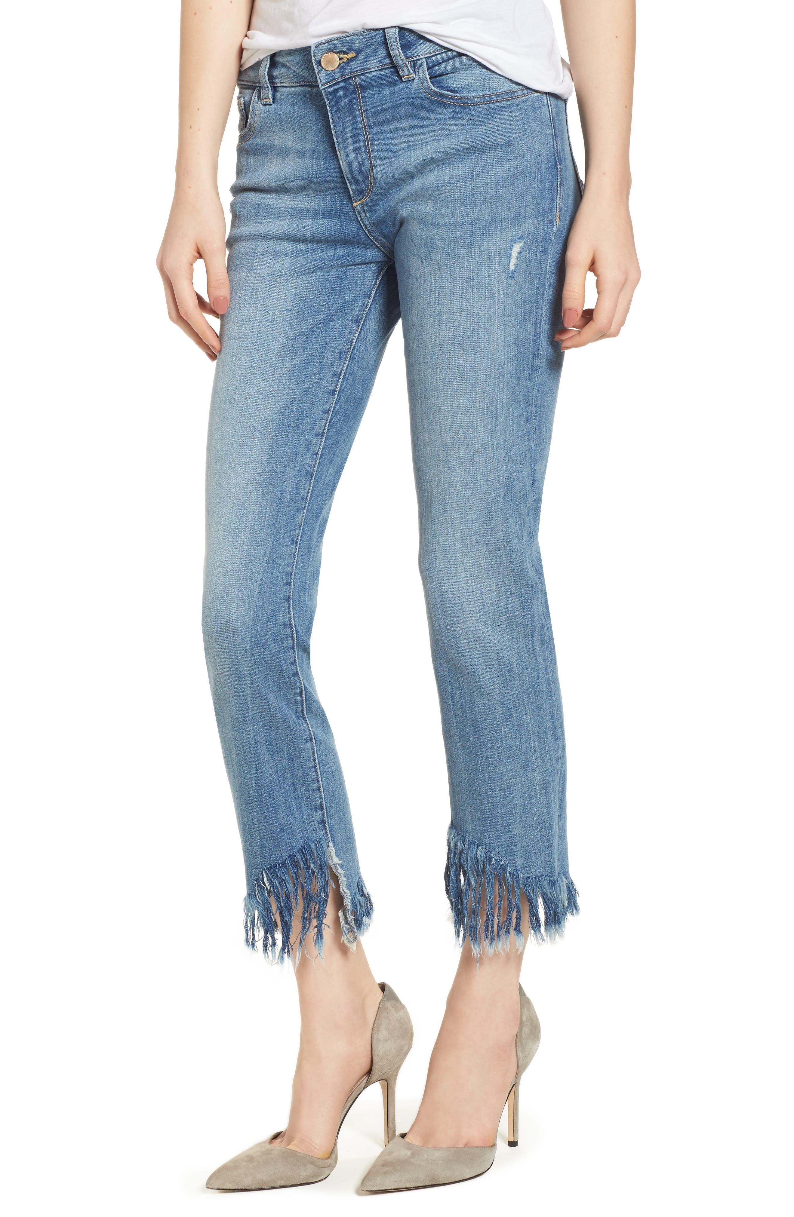 Mara Instasculpt Ankle Straight Leg Jeans,                             Main thumbnail 1, color,                             UPSTATE