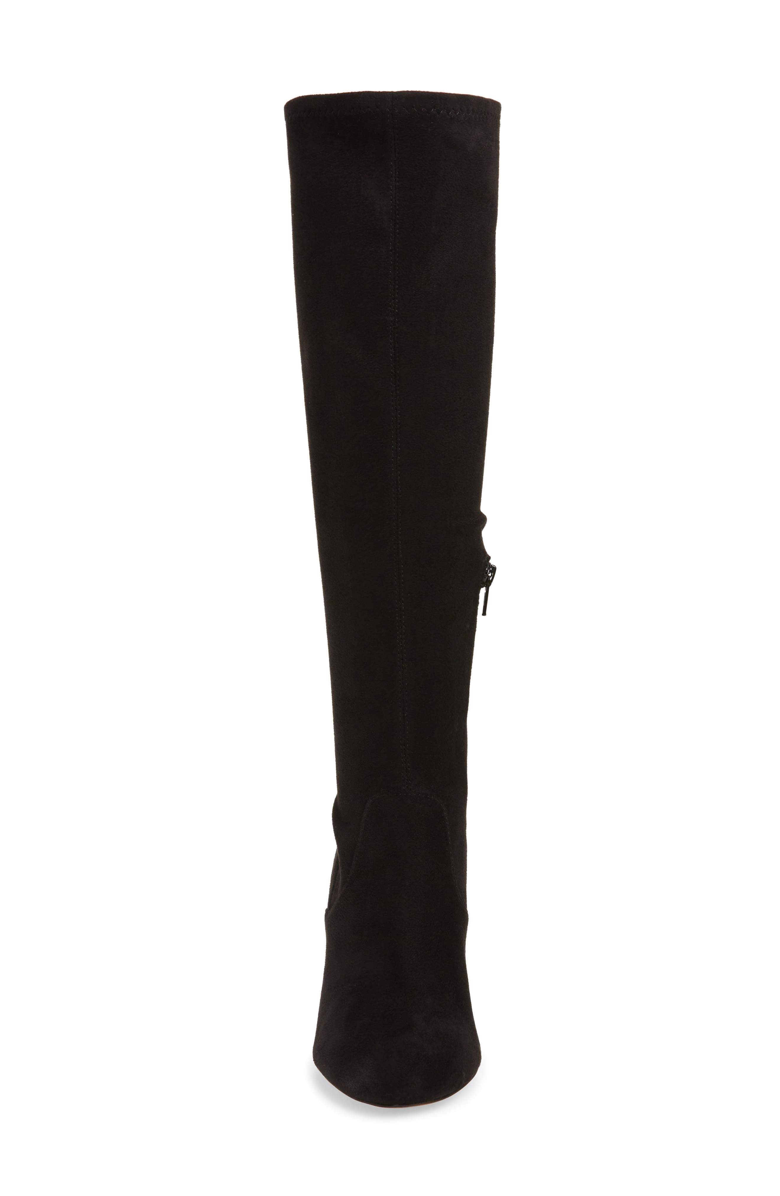 Gillian Knee High Boot,                             Alternate thumbnail 4, color,                             BLACK SUEDE