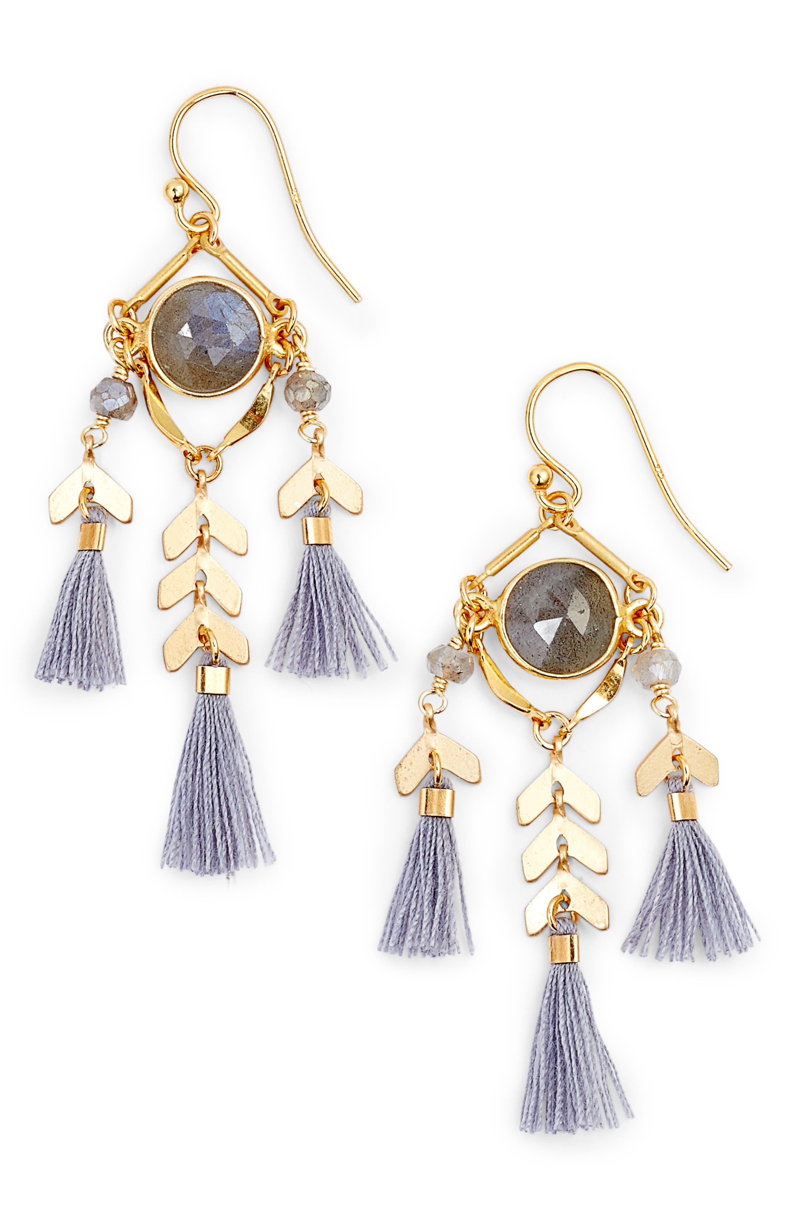 Tassel Drop Earrings,                         Main,                         color, 020