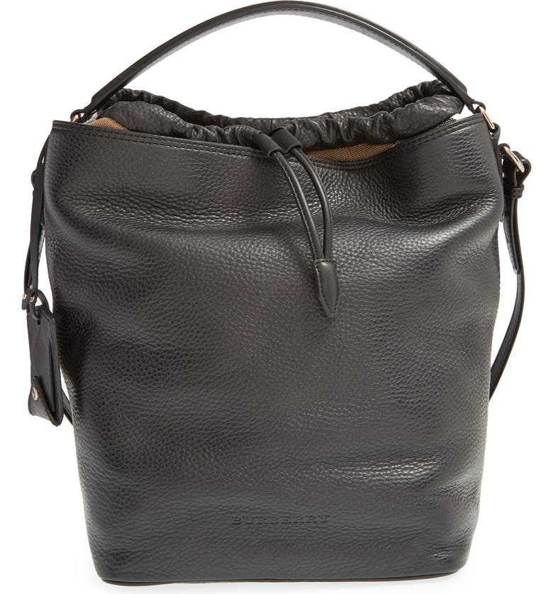 Brit Medium Susanna Leather Canvas Check Hobo Bag
