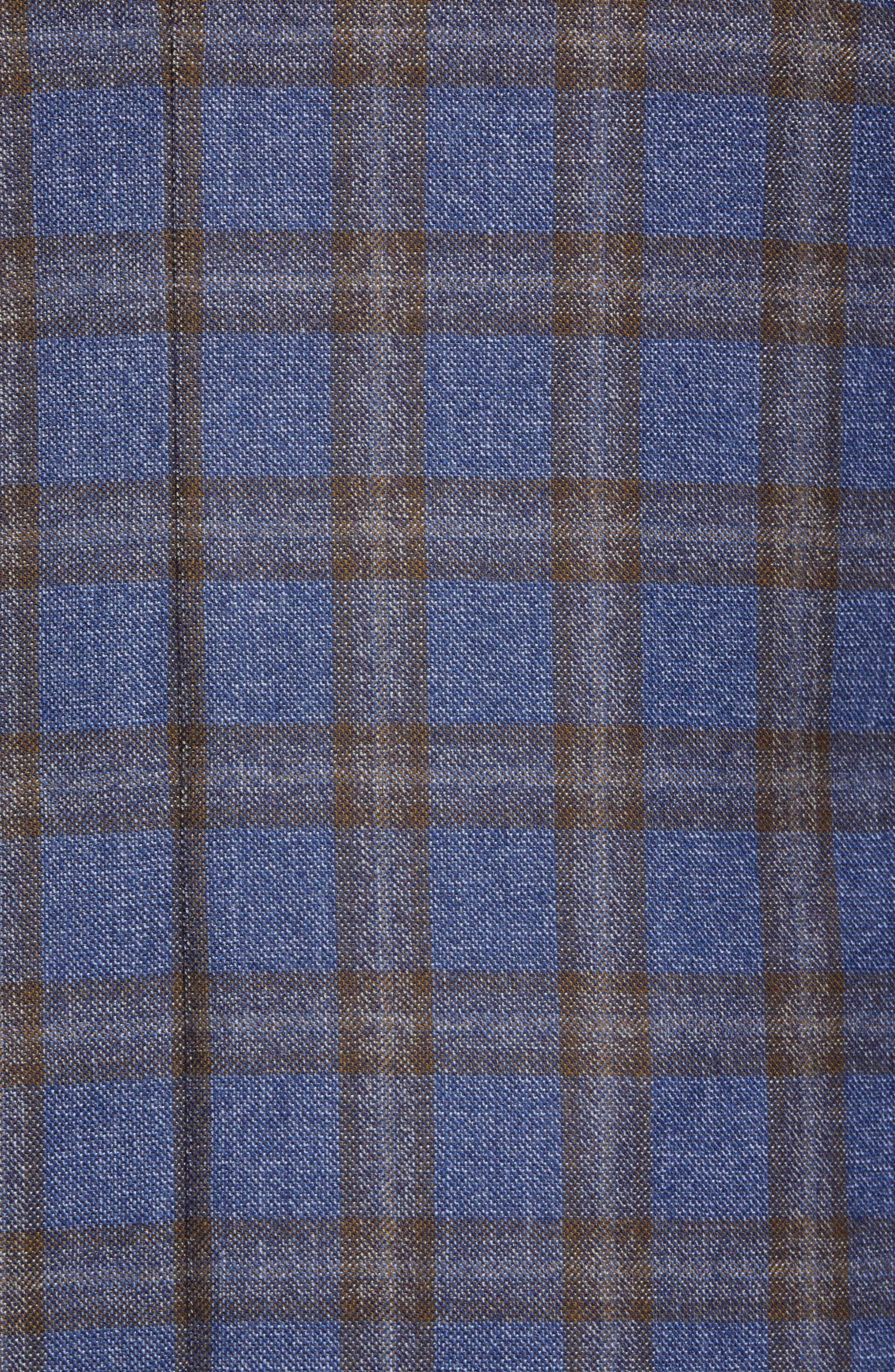 Classic Fit Plaid Wool Sport Coat,                             Alternate thumbnail 6, color,                             420