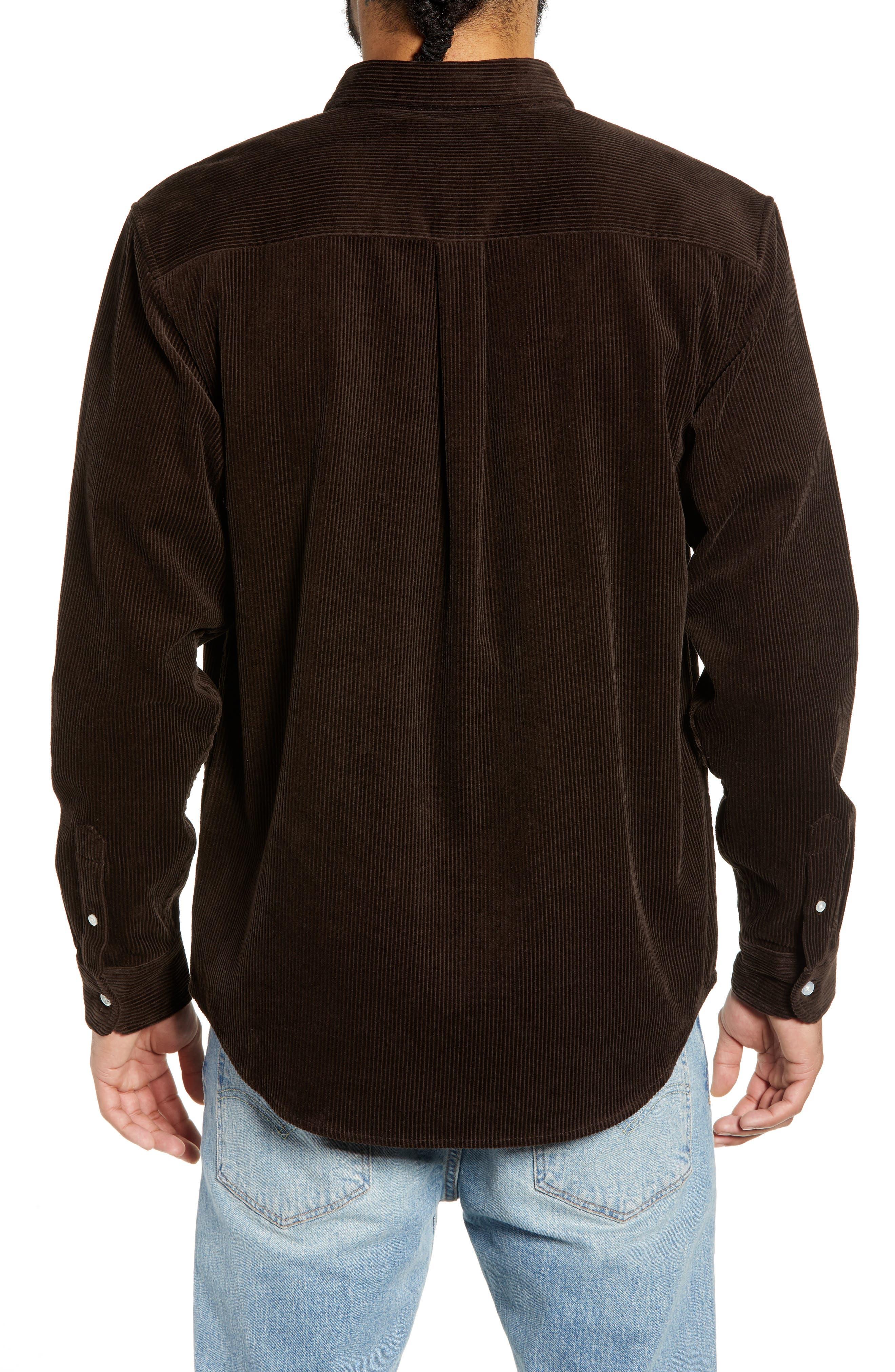 Madison Corduroy Shirt,                             Alternate thumbnail 3, color,                             TOBACCO / WAX