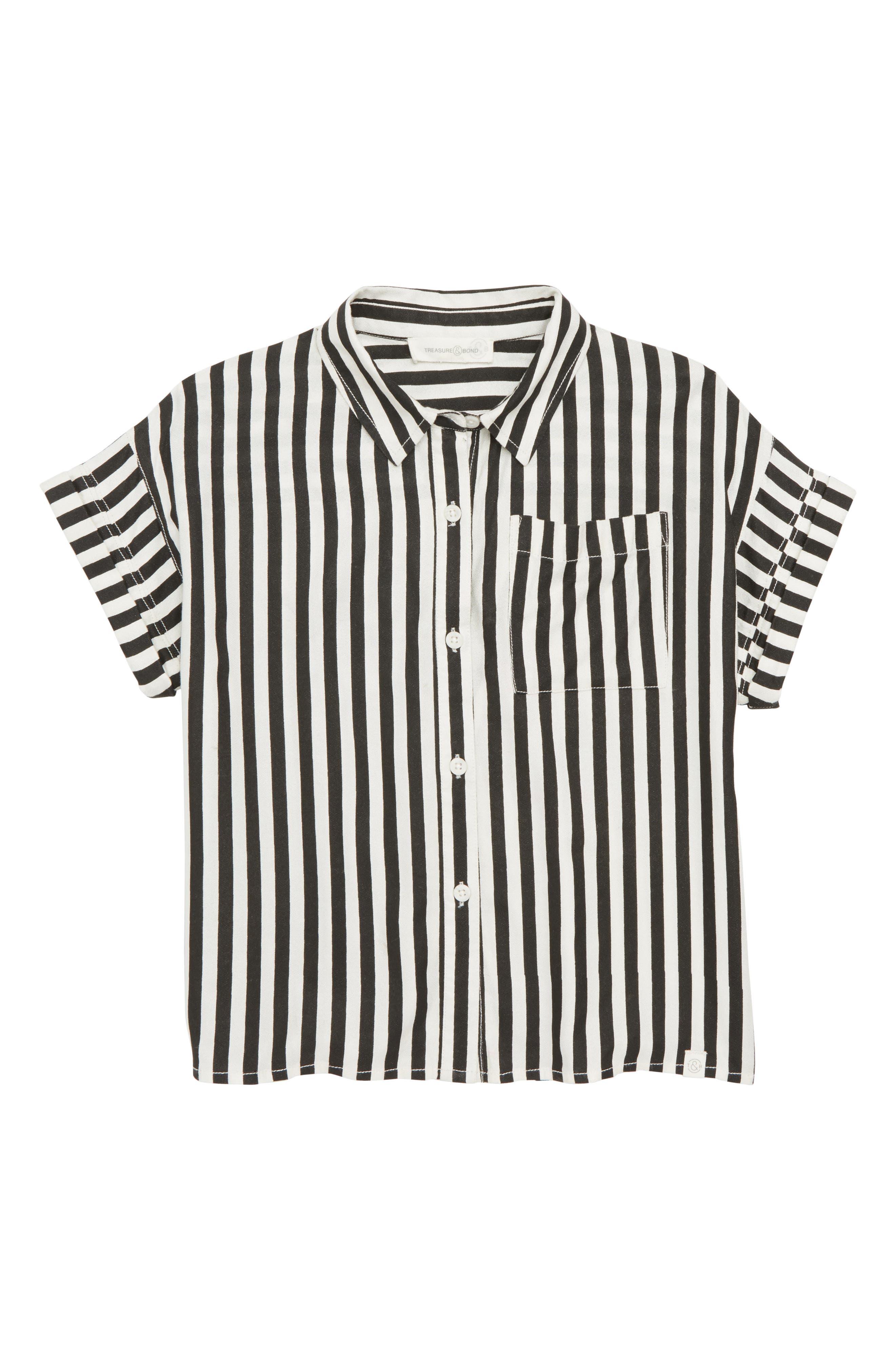 Stripe Woven Shirt,                             Main thumbnail 1, color,                             001