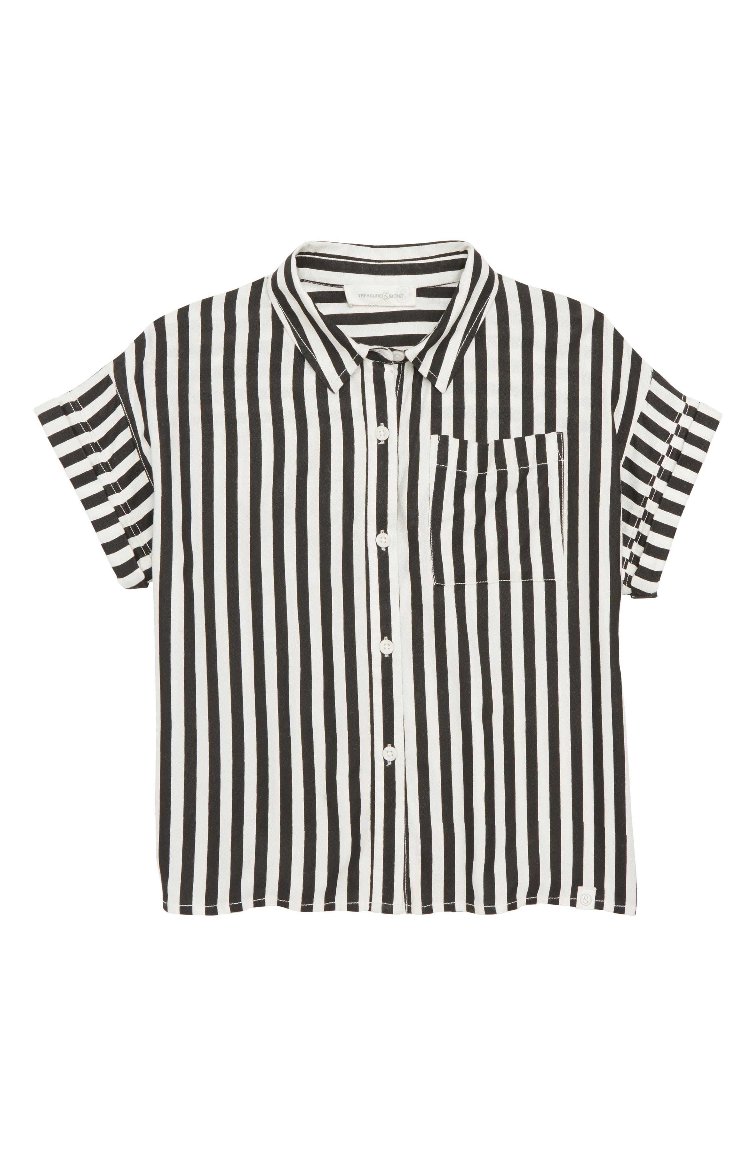 Stripe Woven Shirt,                         Main,                         color, 001