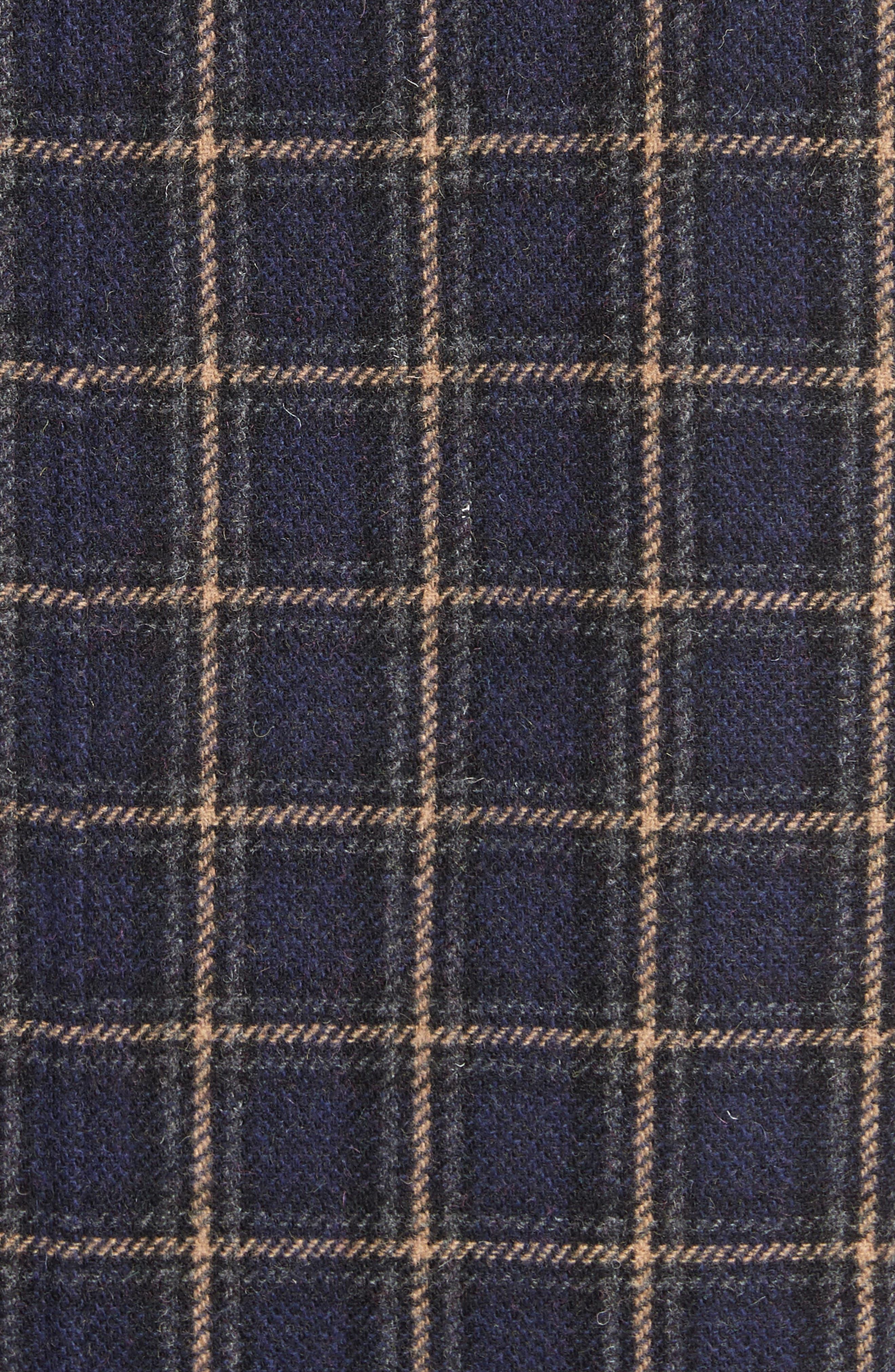Plaid Wool Blend Car Coat,                             Alternate thumbnail 6, color,                             960