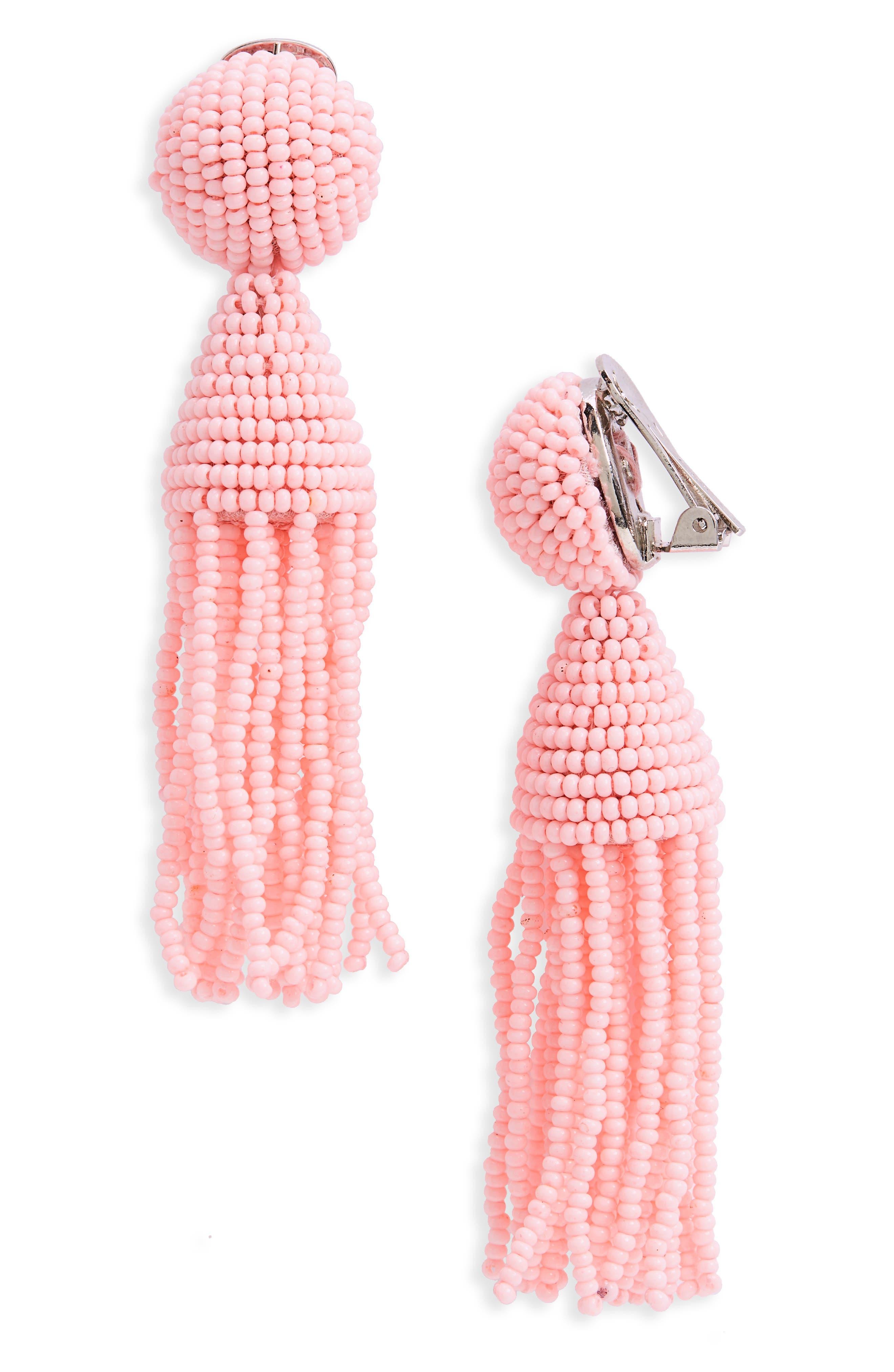'Classic Short' Tassel Drop Clip Earrings,                             Main thumbnail 22, color,