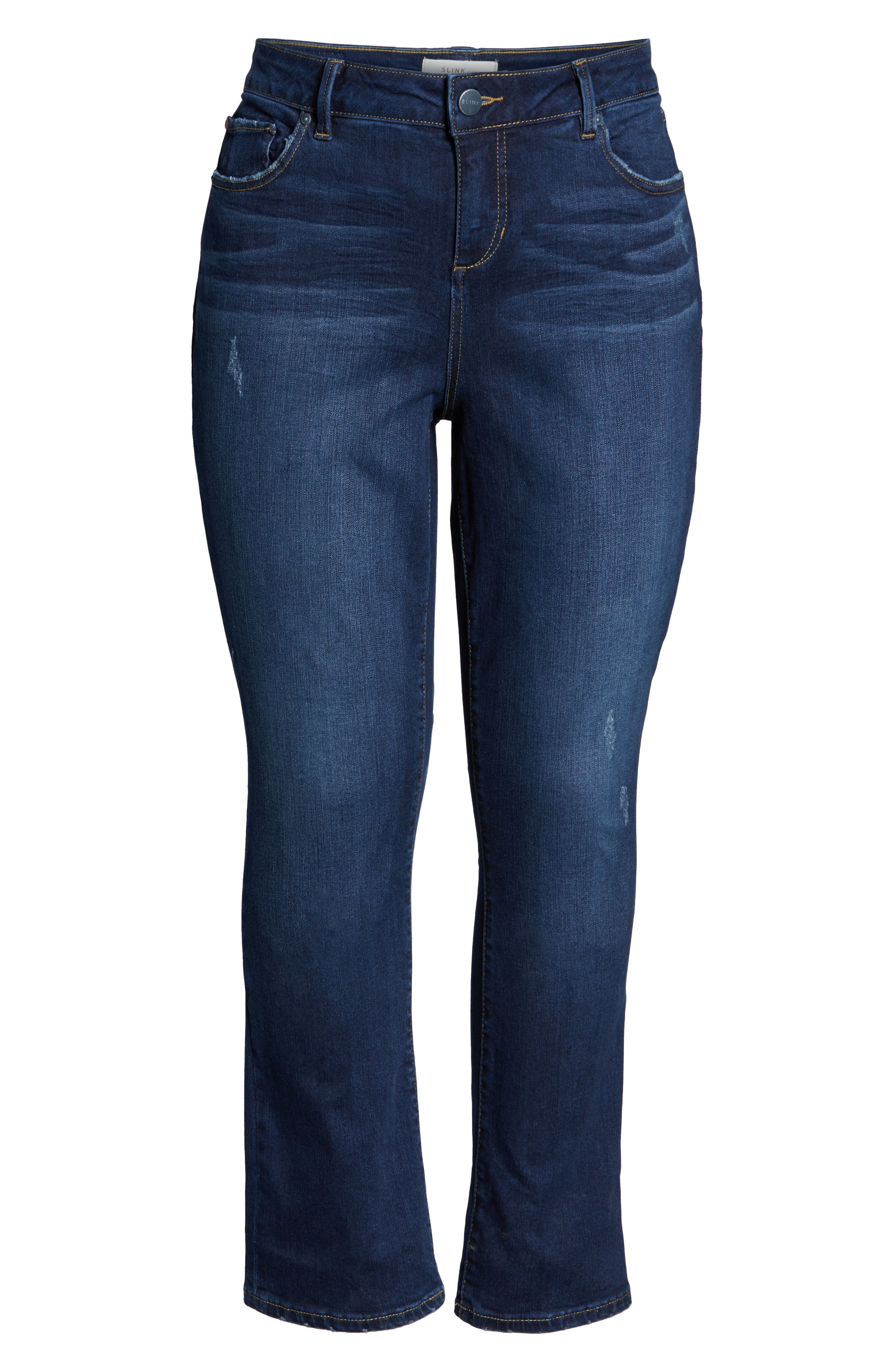 High Waist Crop Bootcut Jeans,                             Alternate thumbnail 4, color,                             SHEELA