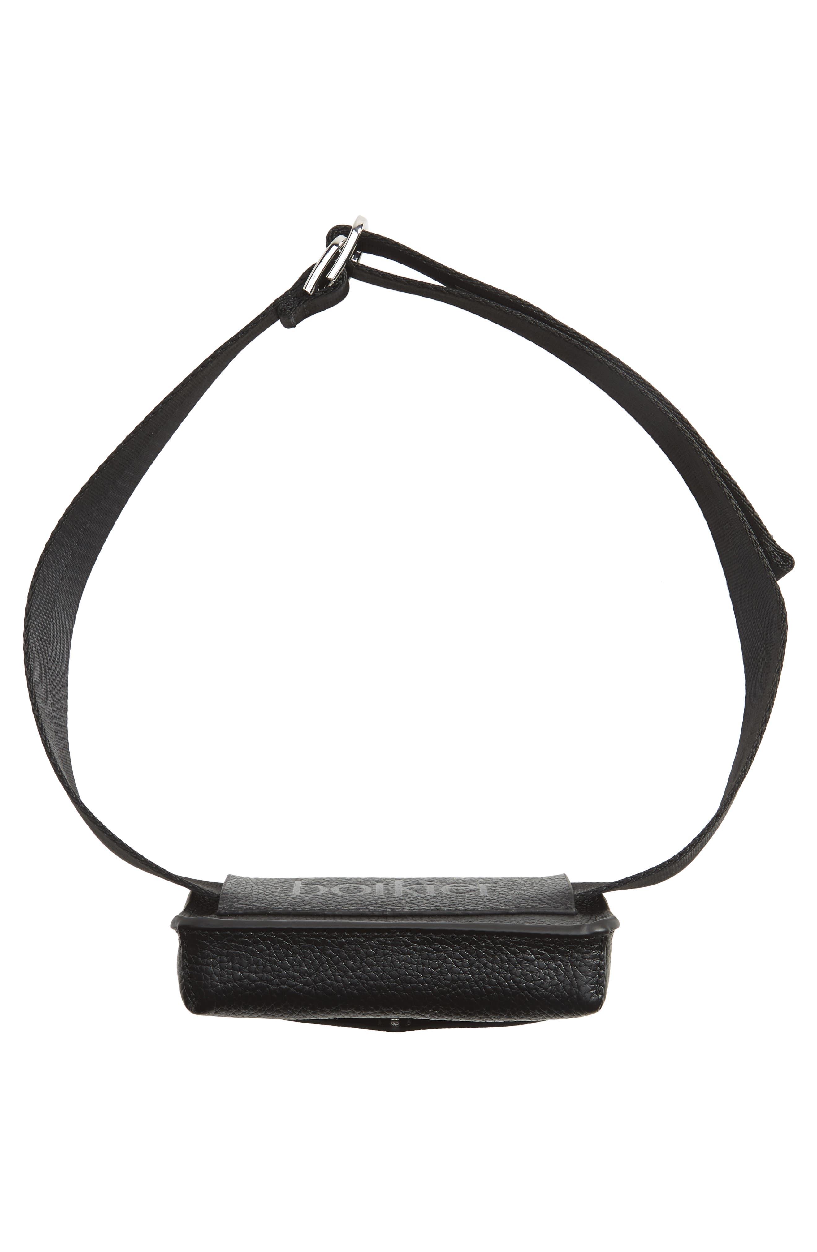 Vivi Calfskin Leather Convertible Belt Bag,                             Alternate thumbnail 8, color,                             BLACK