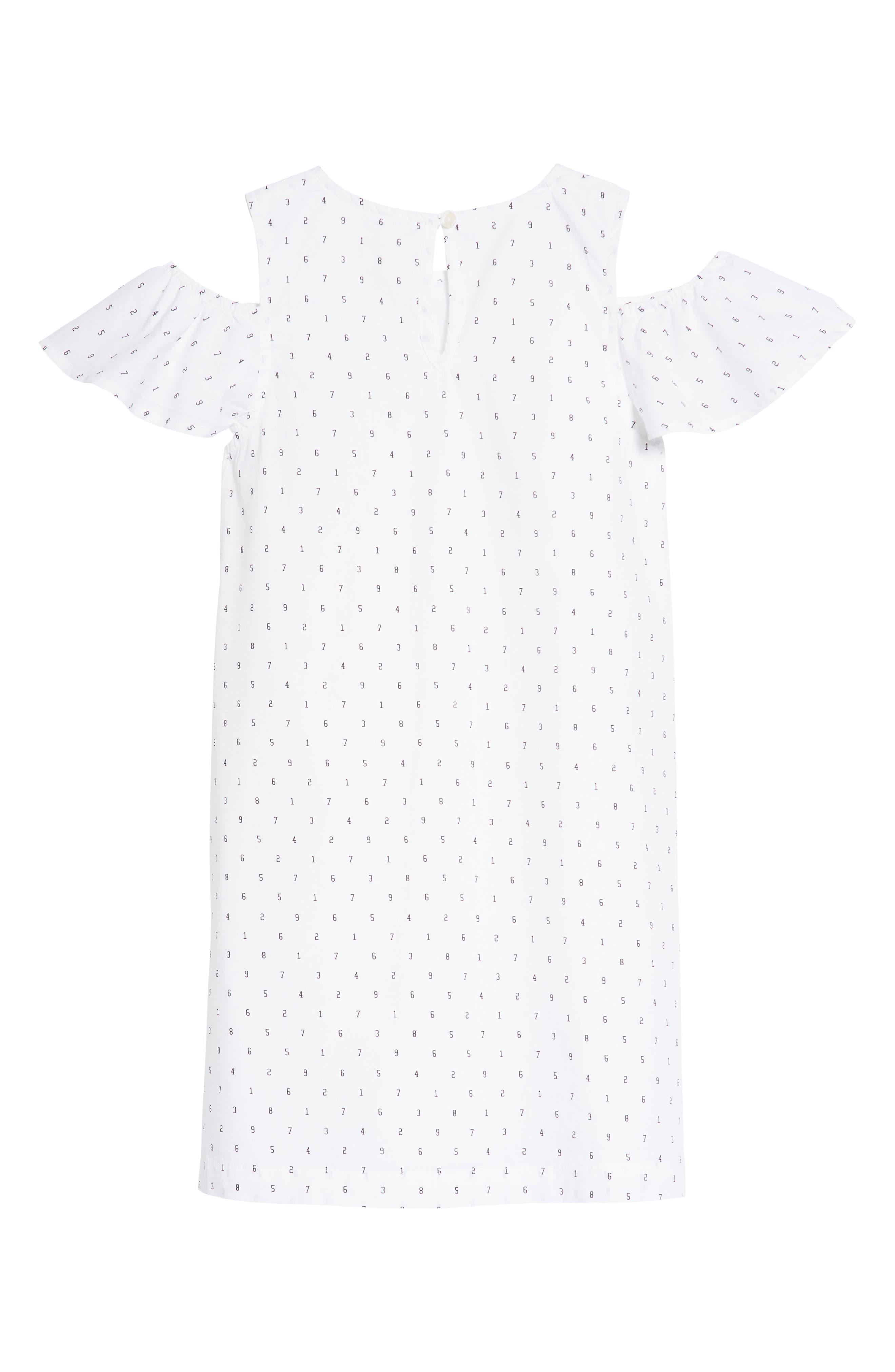 Cold Shoulder Dress,                             Alternate thumbnail 2, color,                             100