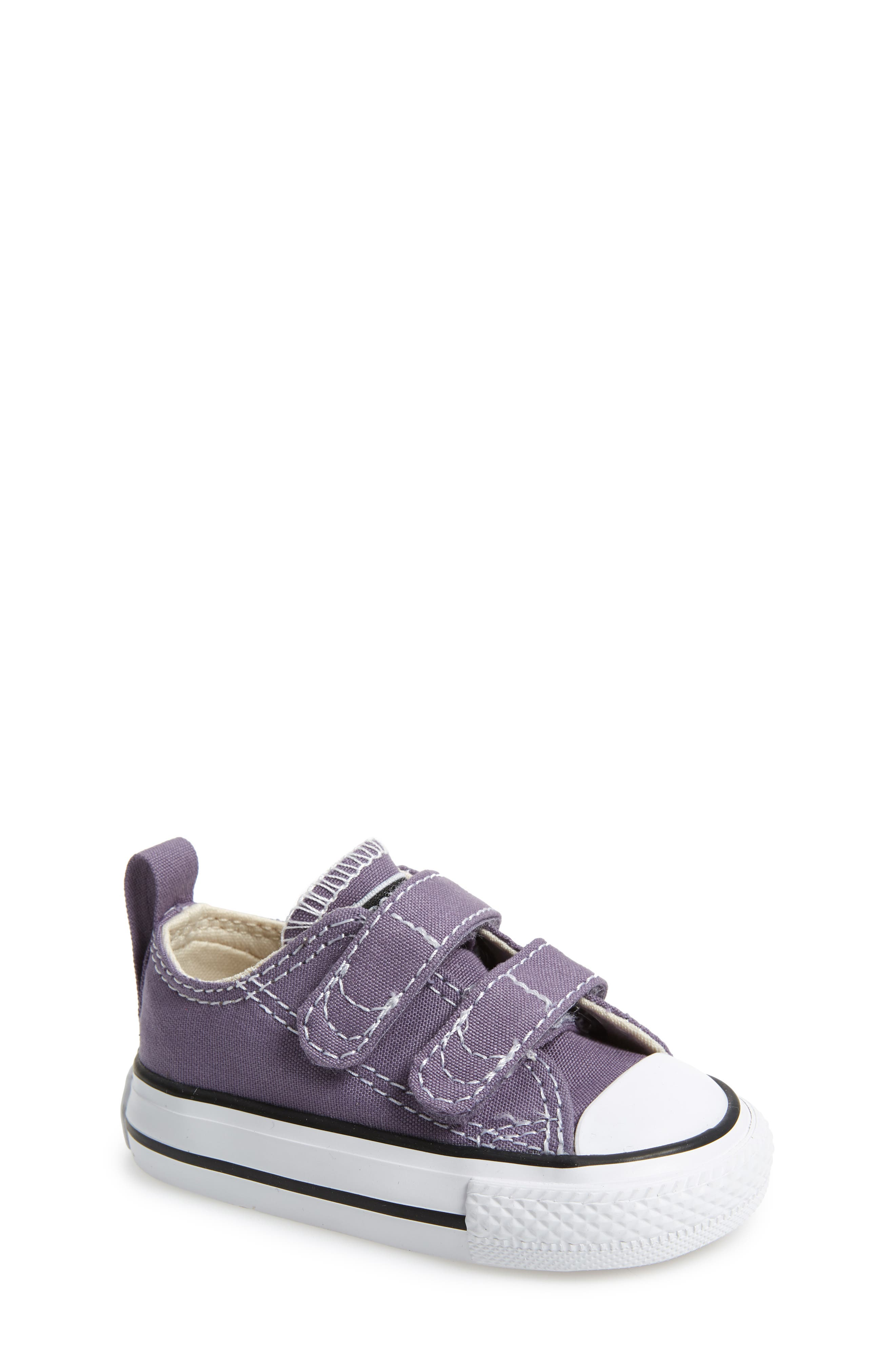Chuck Taylor<sup>®</sup> 'Double Strap' Sneaker,                             Main thumbnail 1, color,                             MOODY PURPLE/ NATURAL IVORY
