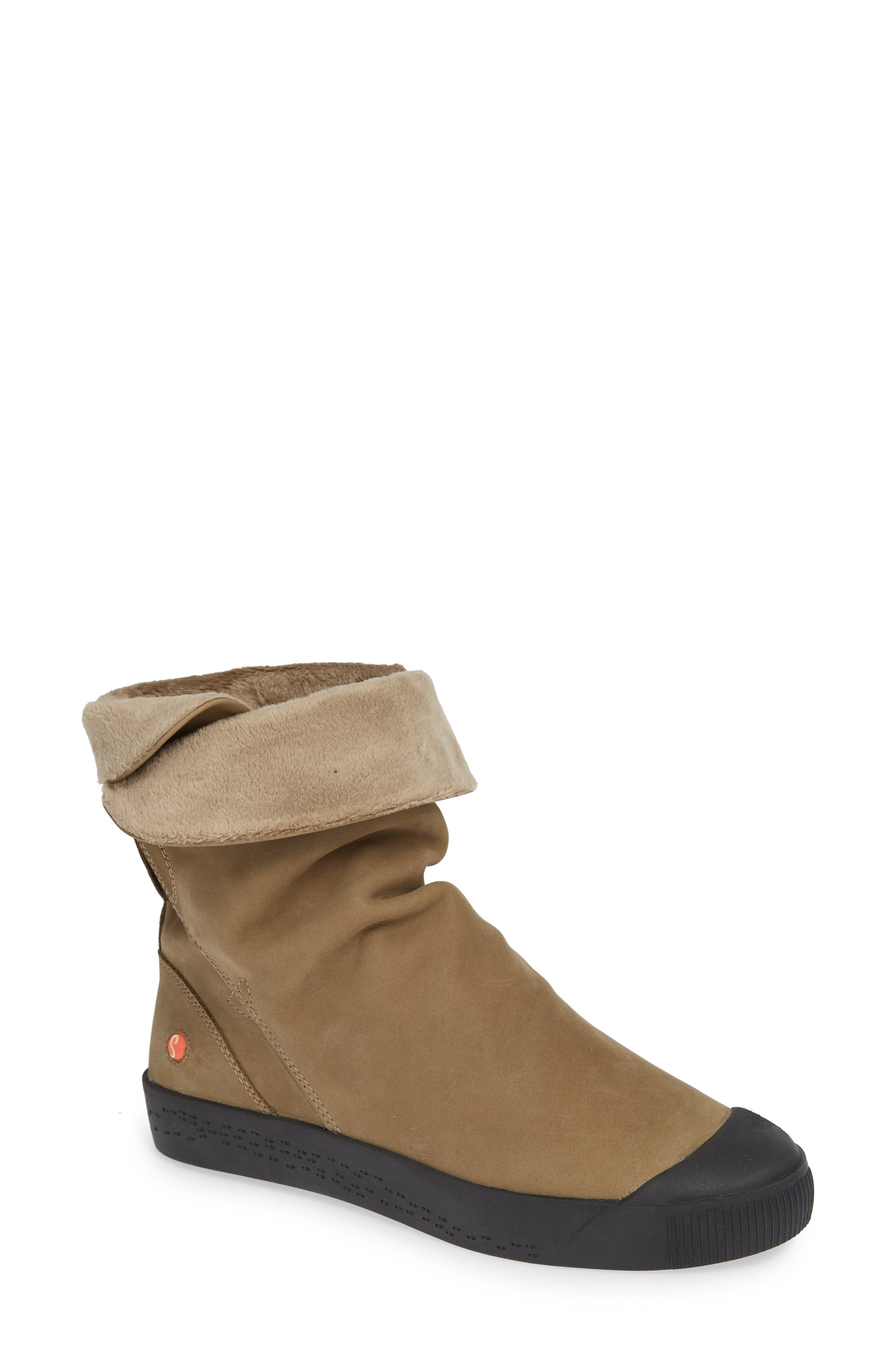 Softinos By Fly London Kaz Slouchy Sneaker Boot - Brown