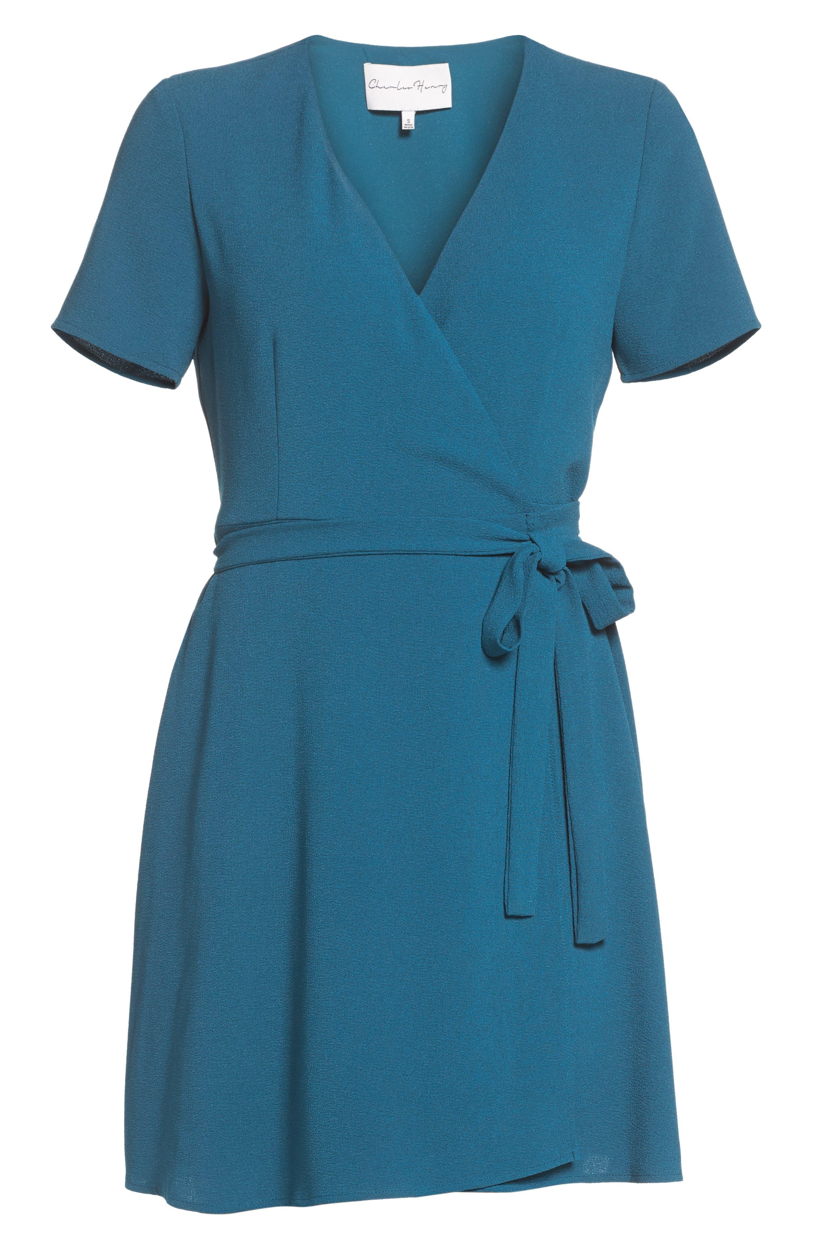 Crepe Wrap Dress,                             Alternate thumbnail 7, color,                             406