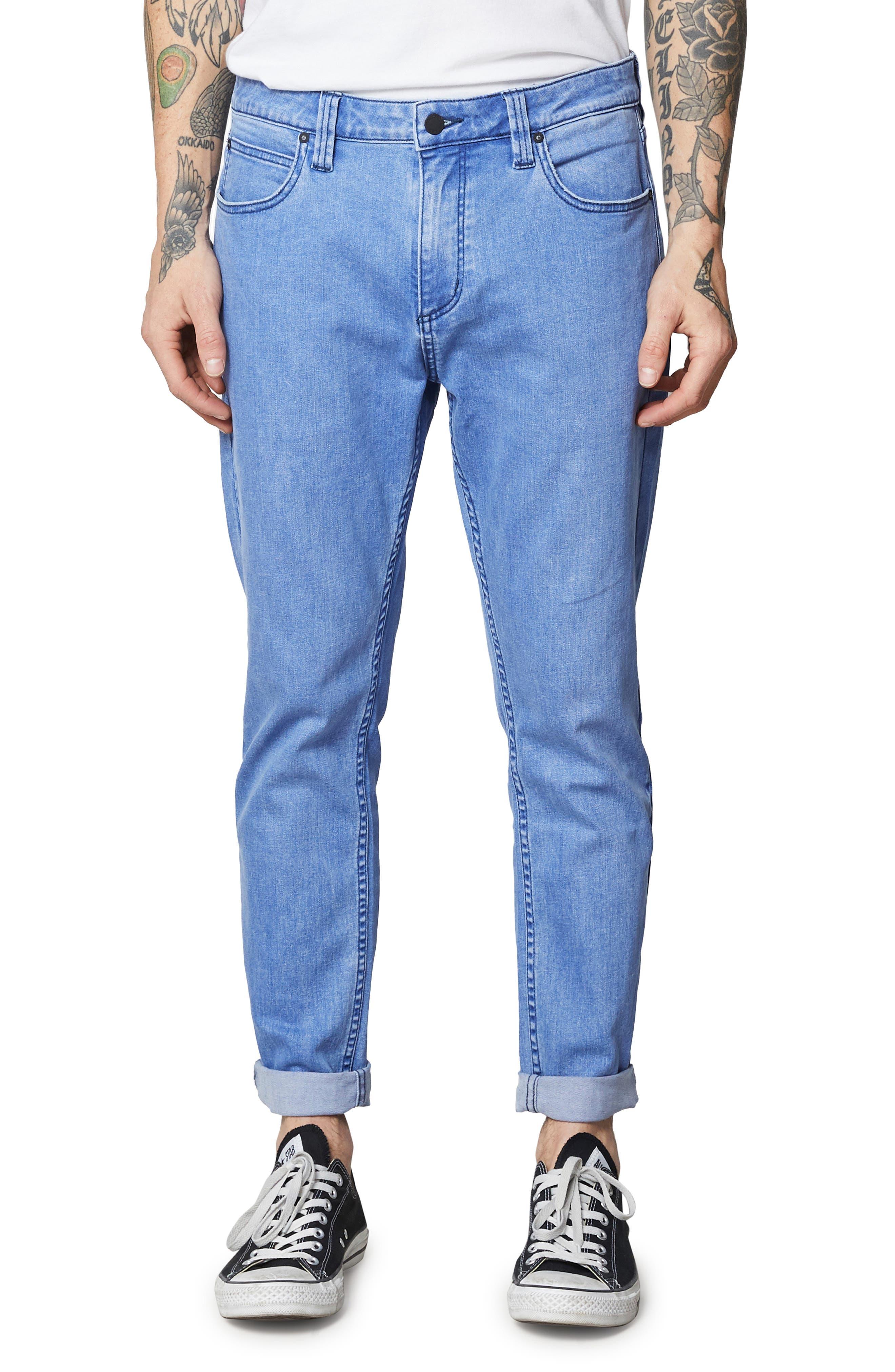 Rollies Slim Fit Jeans,                             Main thumbnail 1, color,                             BOLD BLUE