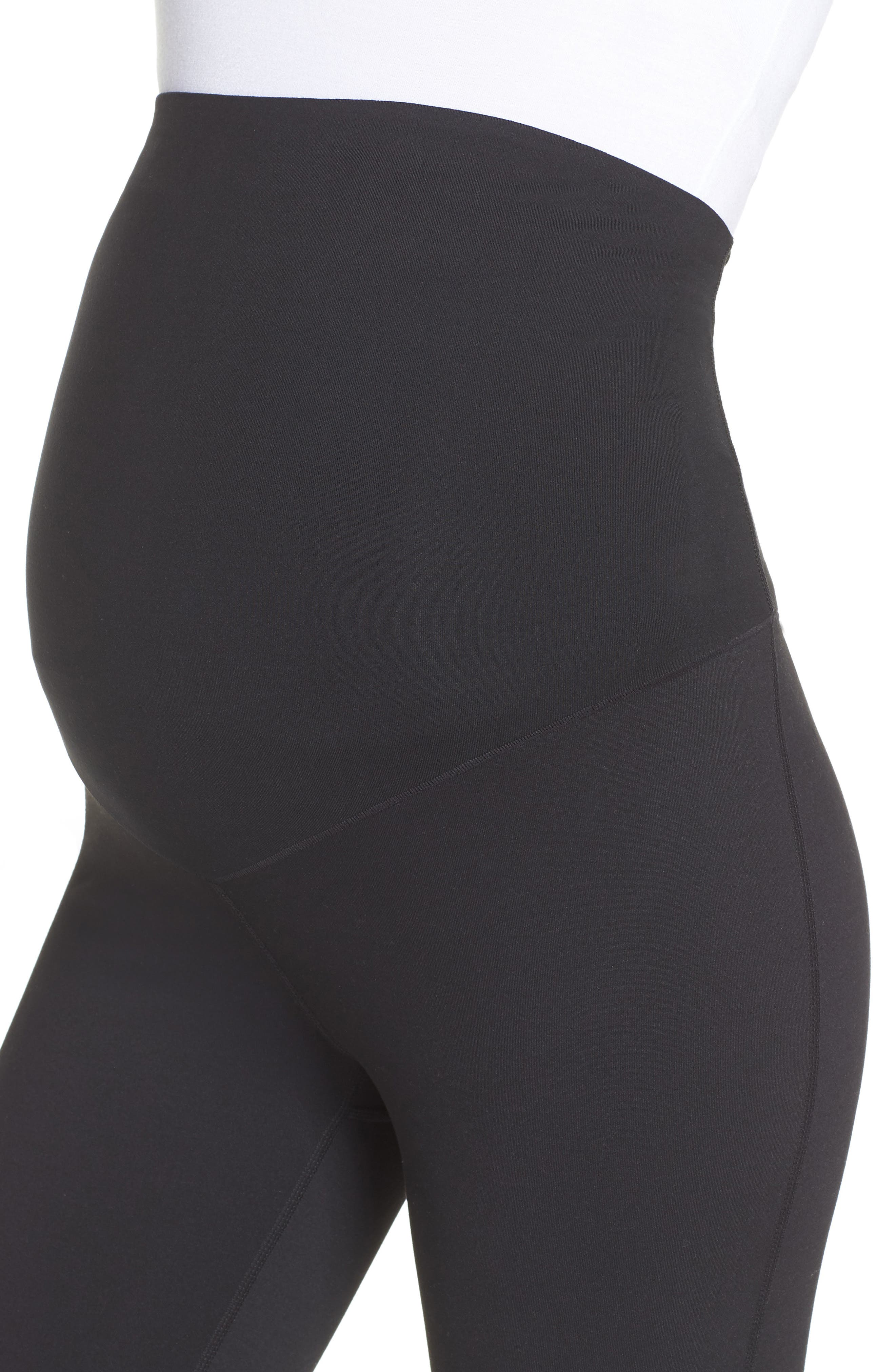 Mamasana Live In Maternity Ankle Leggings,                             Alternate thumbnail 4, color,