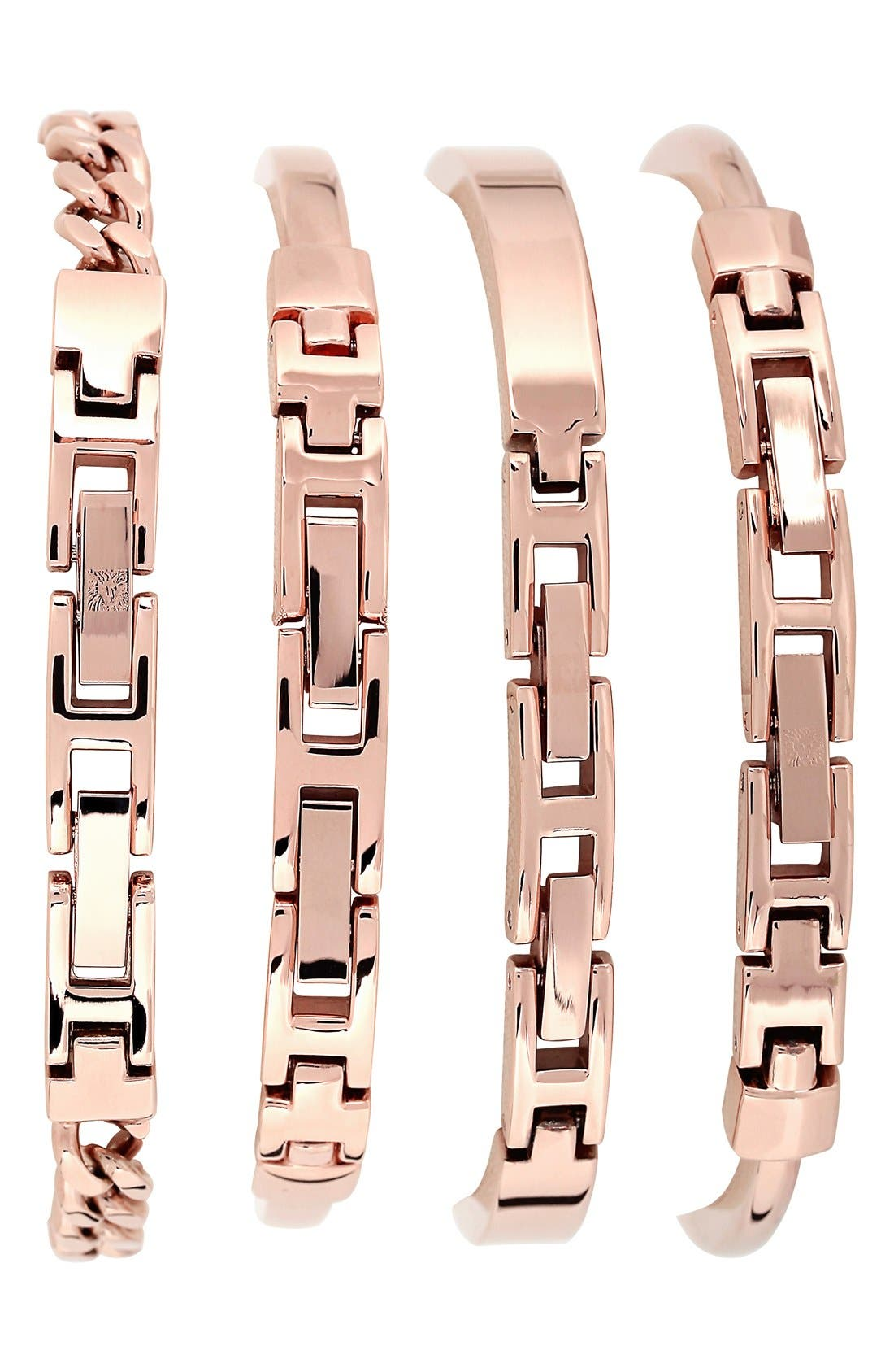 Round Watch & Bangle Set, 32mm,                             Alternate thumbnail 2, color,                             ROSE GOLD/ IVORY