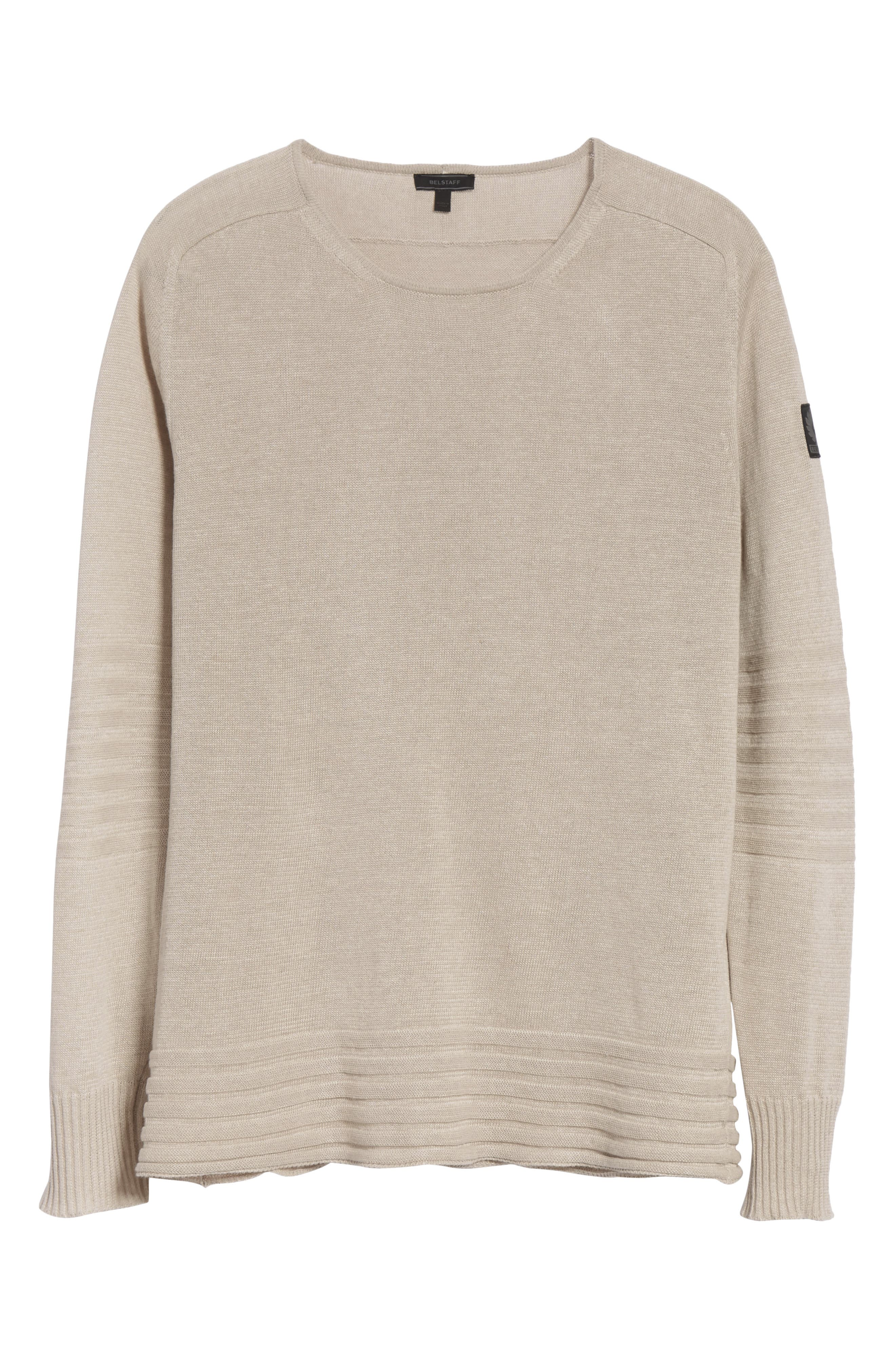 Exford Linen Crewneck Sweater,                             Alternate thumbnail 6, color,                             270