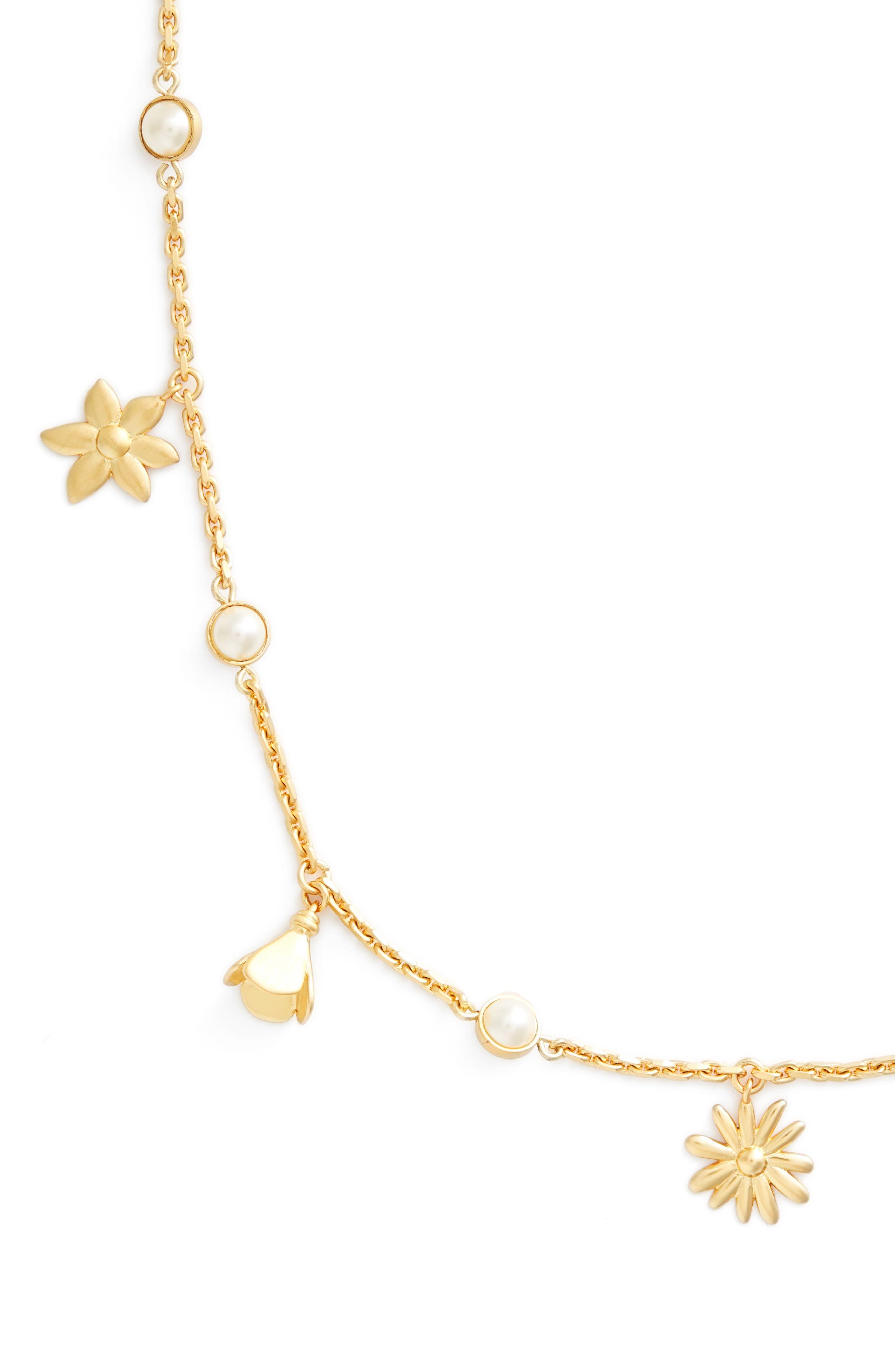 Bellflower Rosary Necklace,                             Alternate thumbnail 2, color,                             710