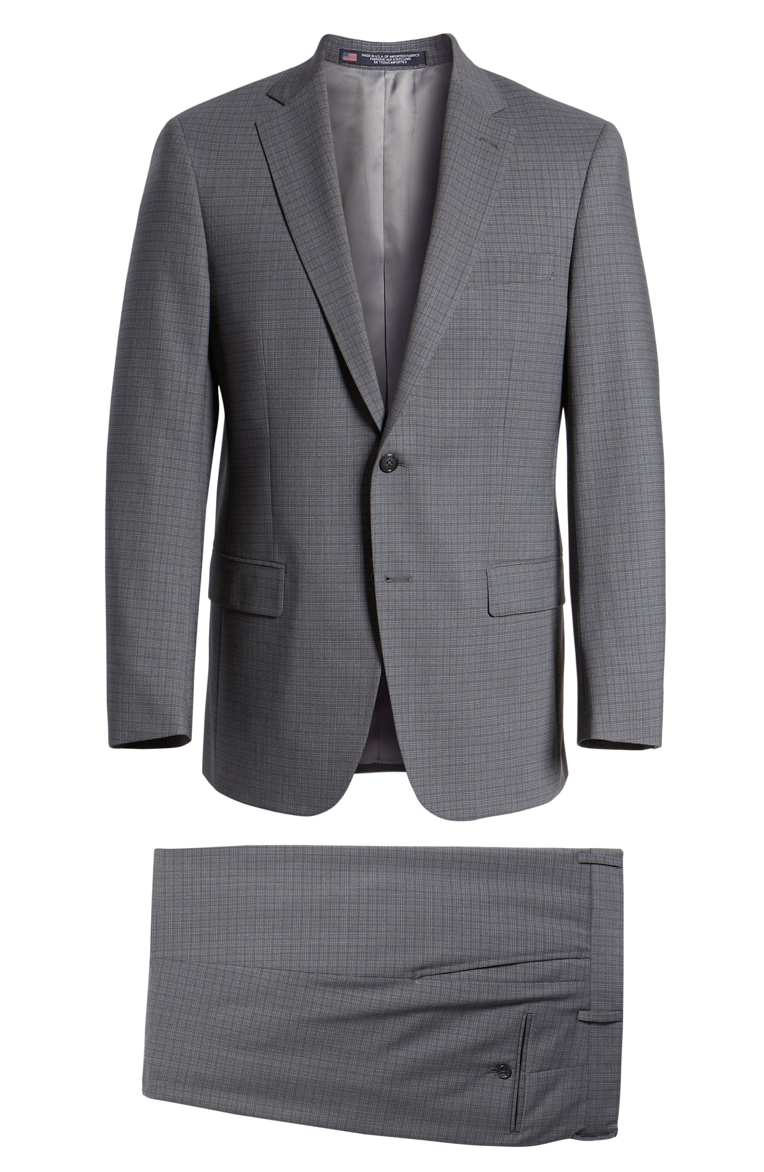 Classic Fit Stretch Plaid Wool Suit,                             Alternate thumbnail 8, color,