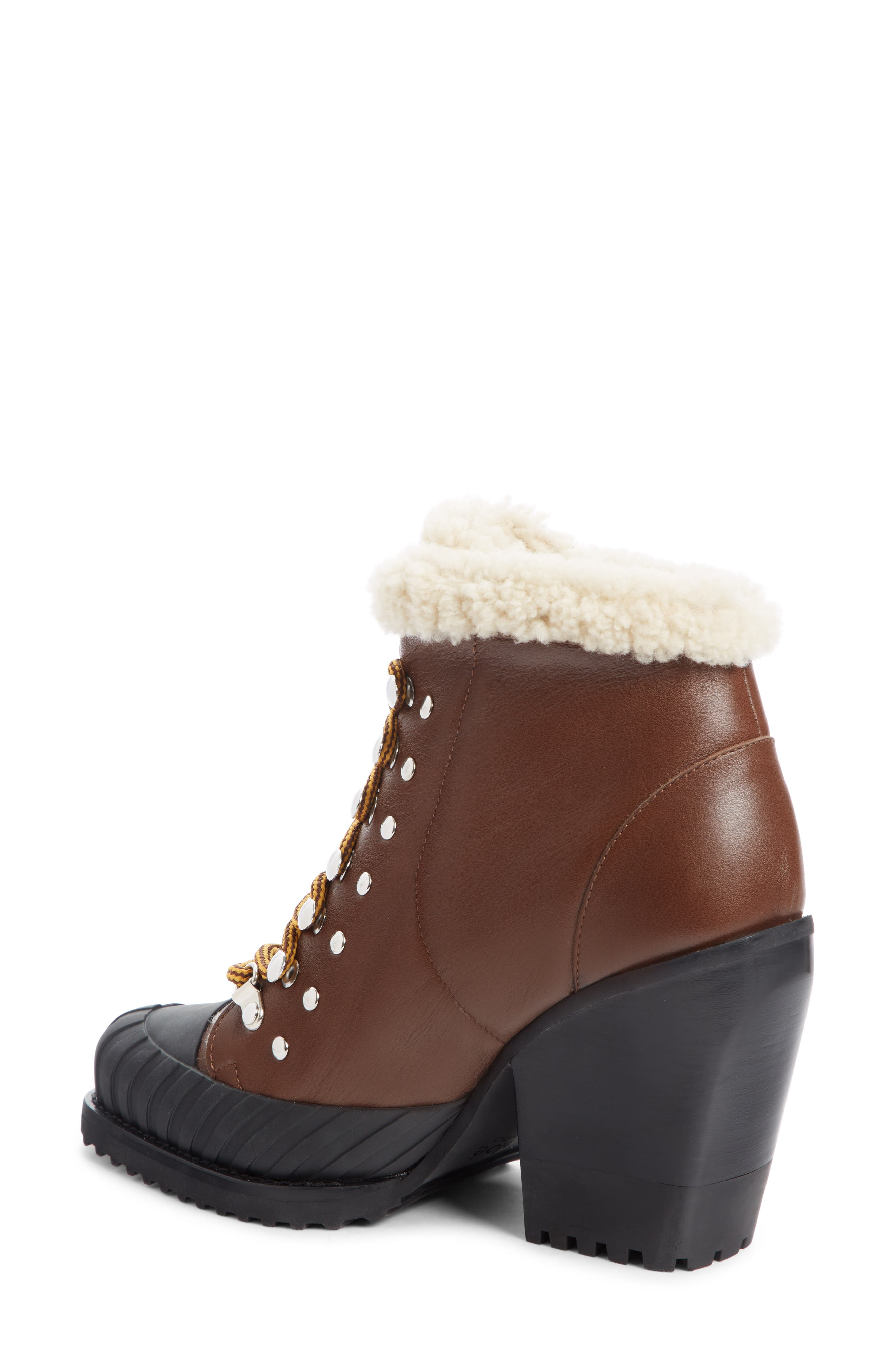 Rylee Genuine Shearling Lined Hiking Boot,                             Alternate thumbnail 2, color,                             TRUE BROWN LEATHER
