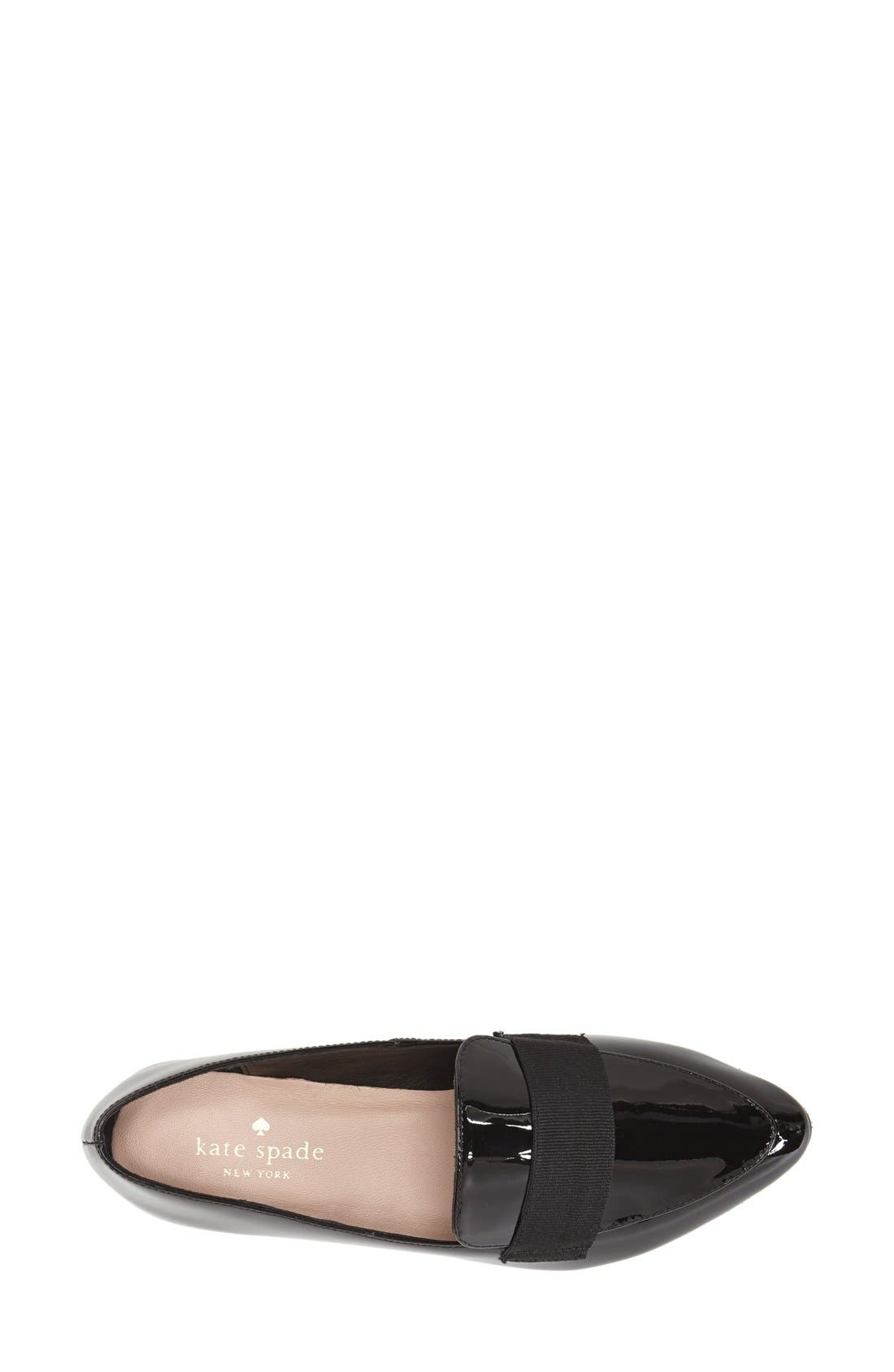 'corina' pointy toe loafer,                             Alternate thumbnail 3, color,                             001