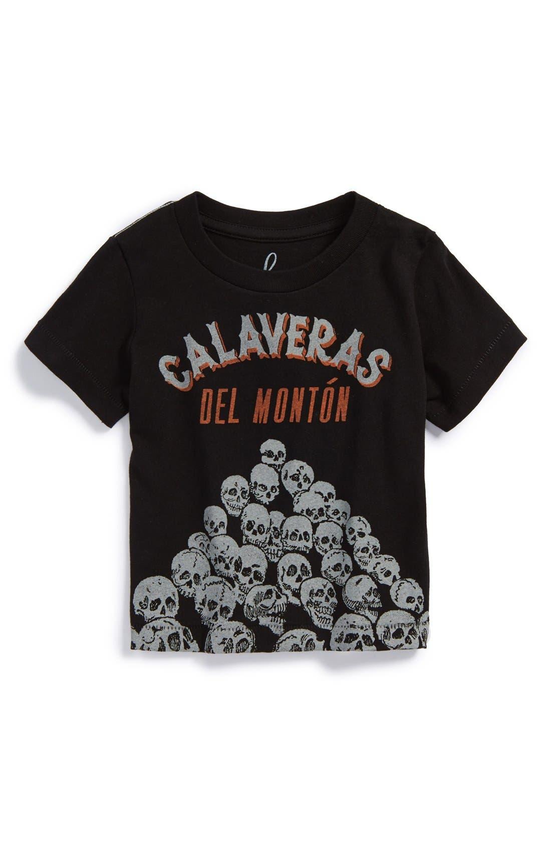 Peek 'Calavera del Montón' T-Shirt,                             Main thumbnail 1, color,                             002